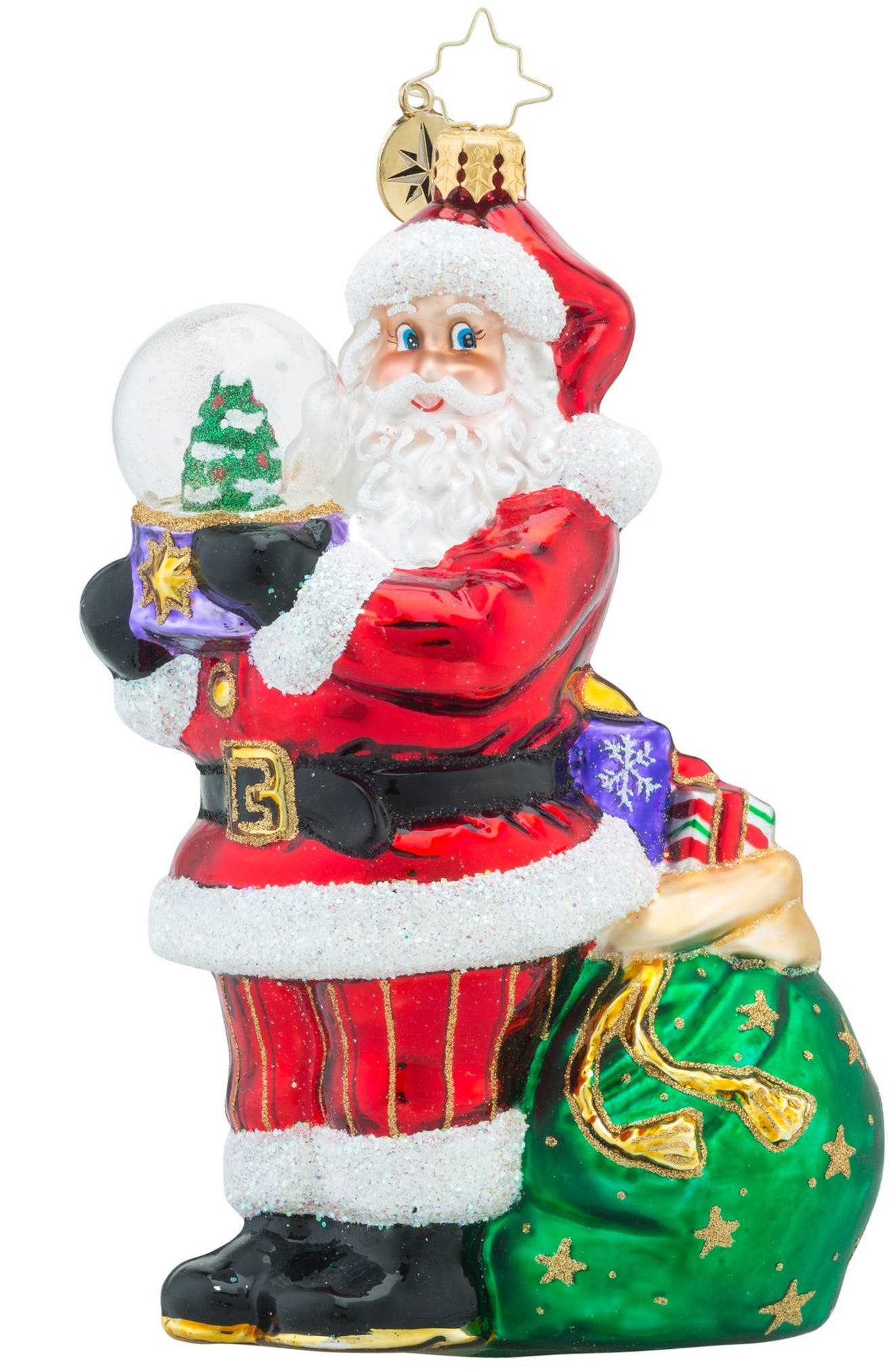 Winter Land Santa Claus Ornament,                         Main,                         color, Red/ Multi