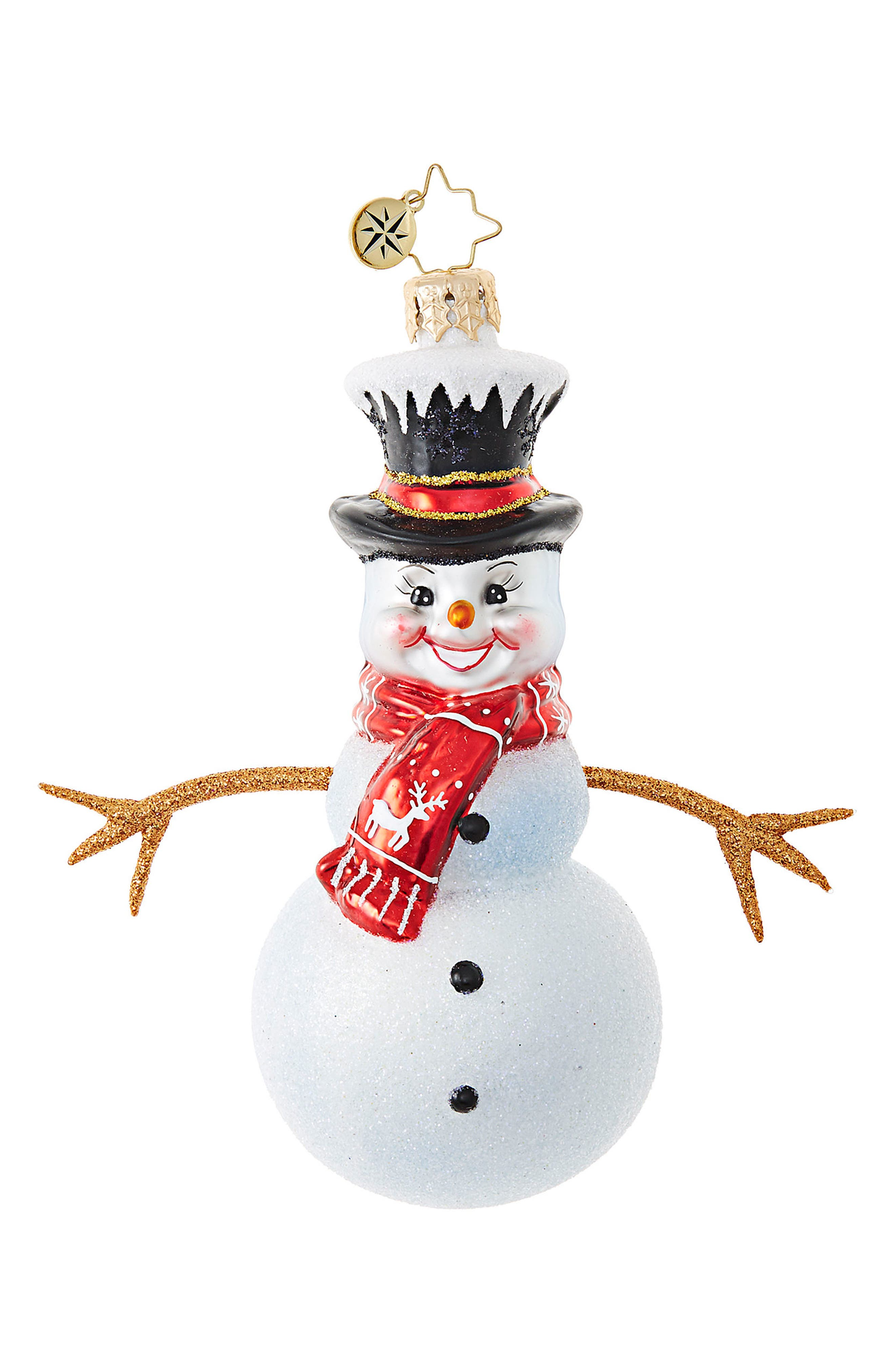 Alternate Image 1 Selected - Christopher Radko Twiggy Snowman Ornament
