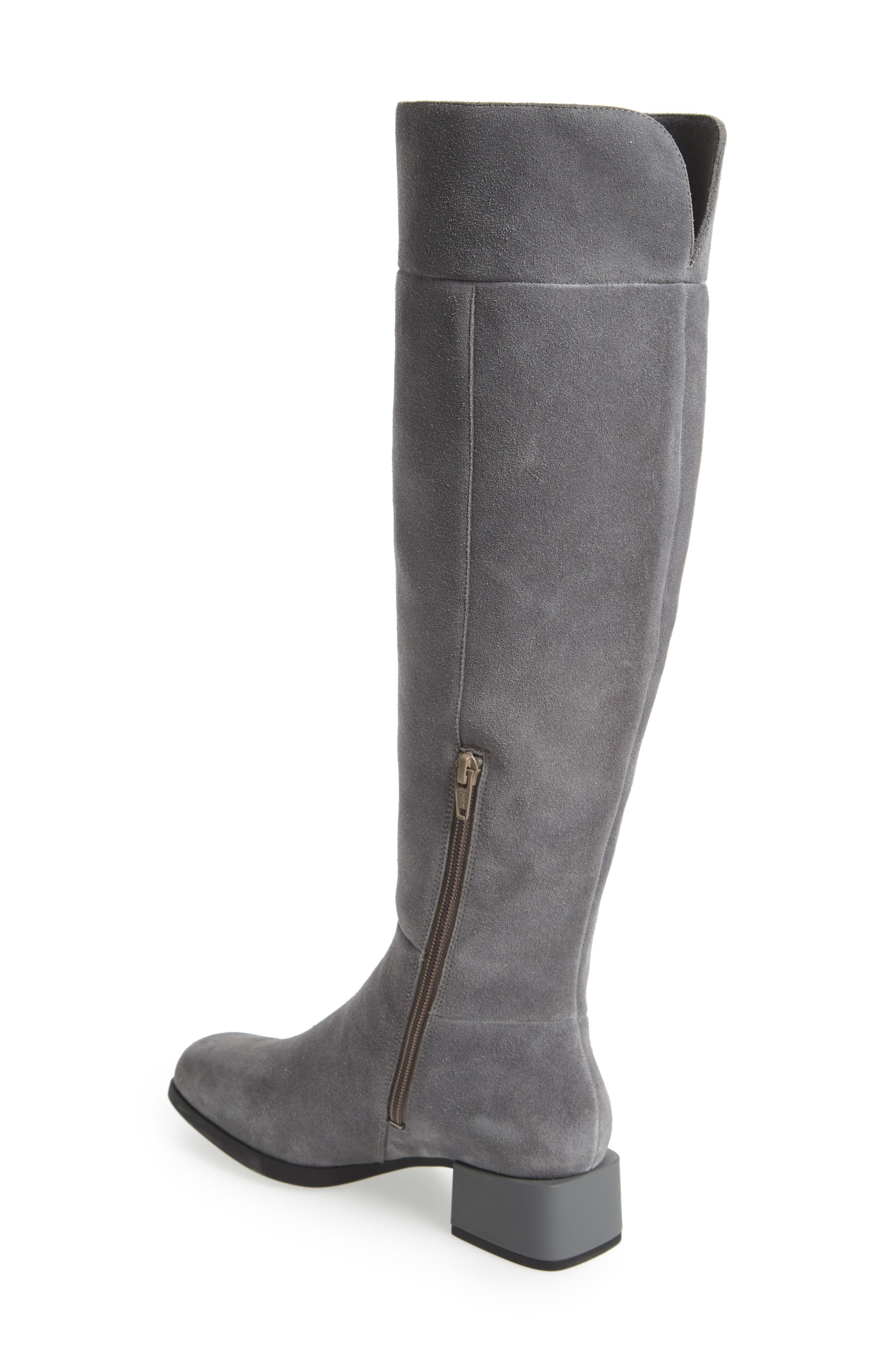 Kobo Knee High Boot,                             Alternate thumbnail 2, color,                             Grey Leather