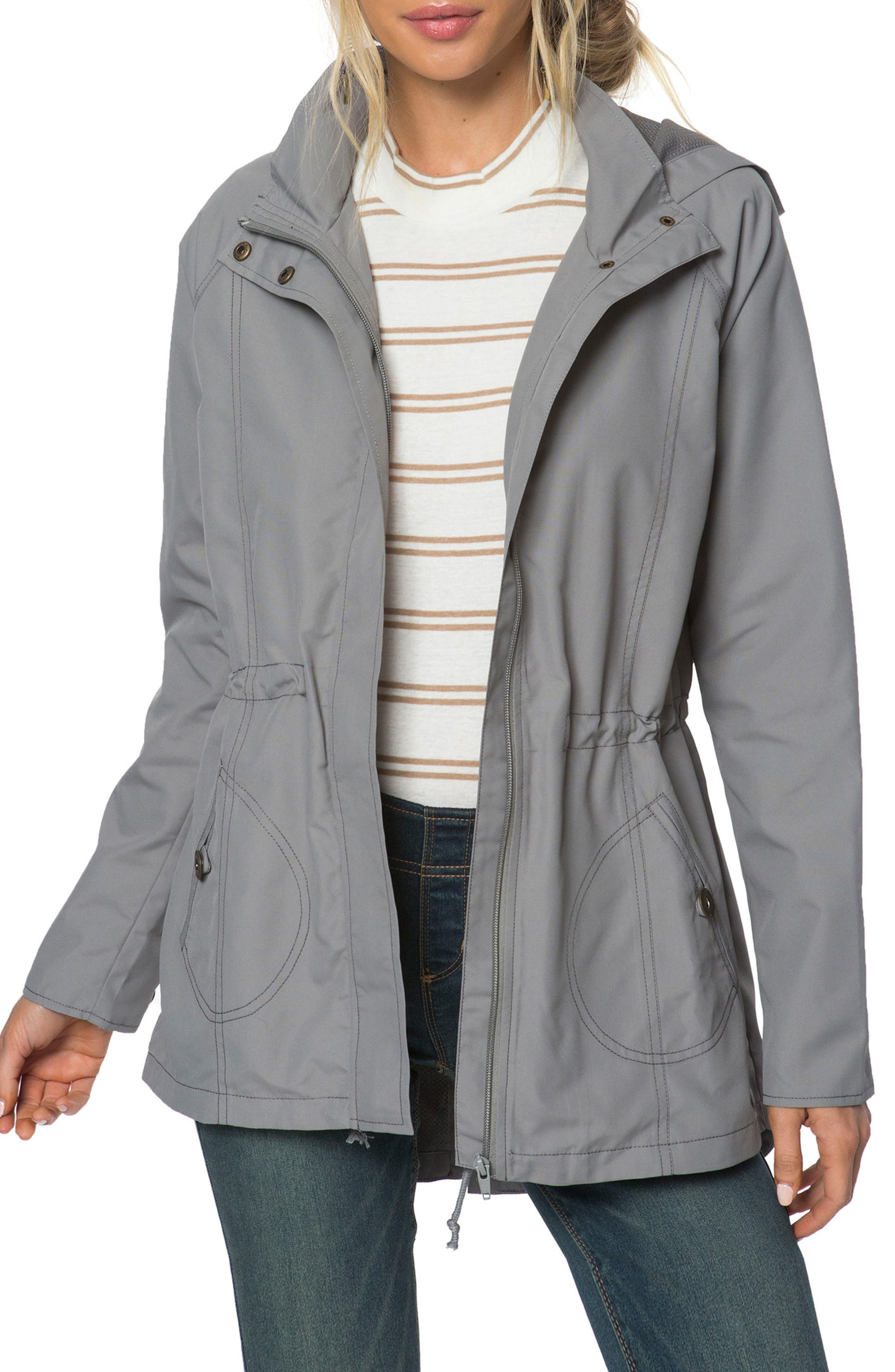 Wendy Hooded Jacket,                         Main,                         color, Charcoal