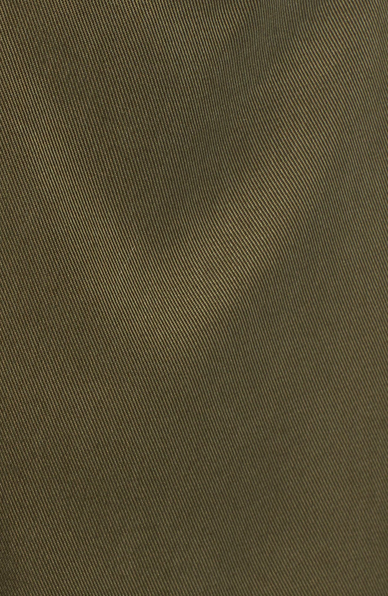 Averie Drawstring Waist Army Coat,                             Alternate thumbnail 5, color,                             Sage