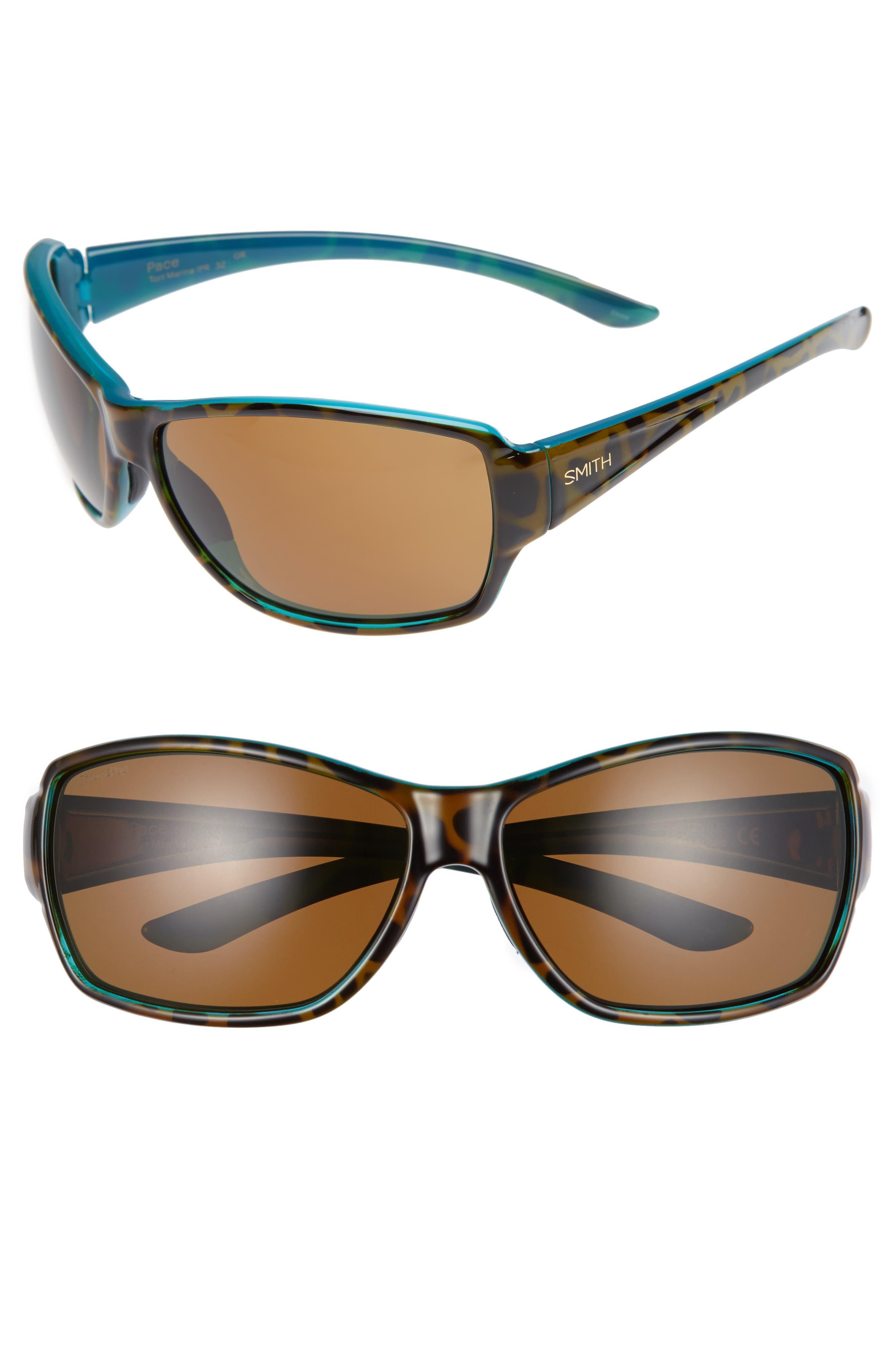 'Pace' 65mm ChromaPop<sup>™</sup> Polarized Sunglasses,                             Main thumbnail 1, color,                             Tortoise Marine