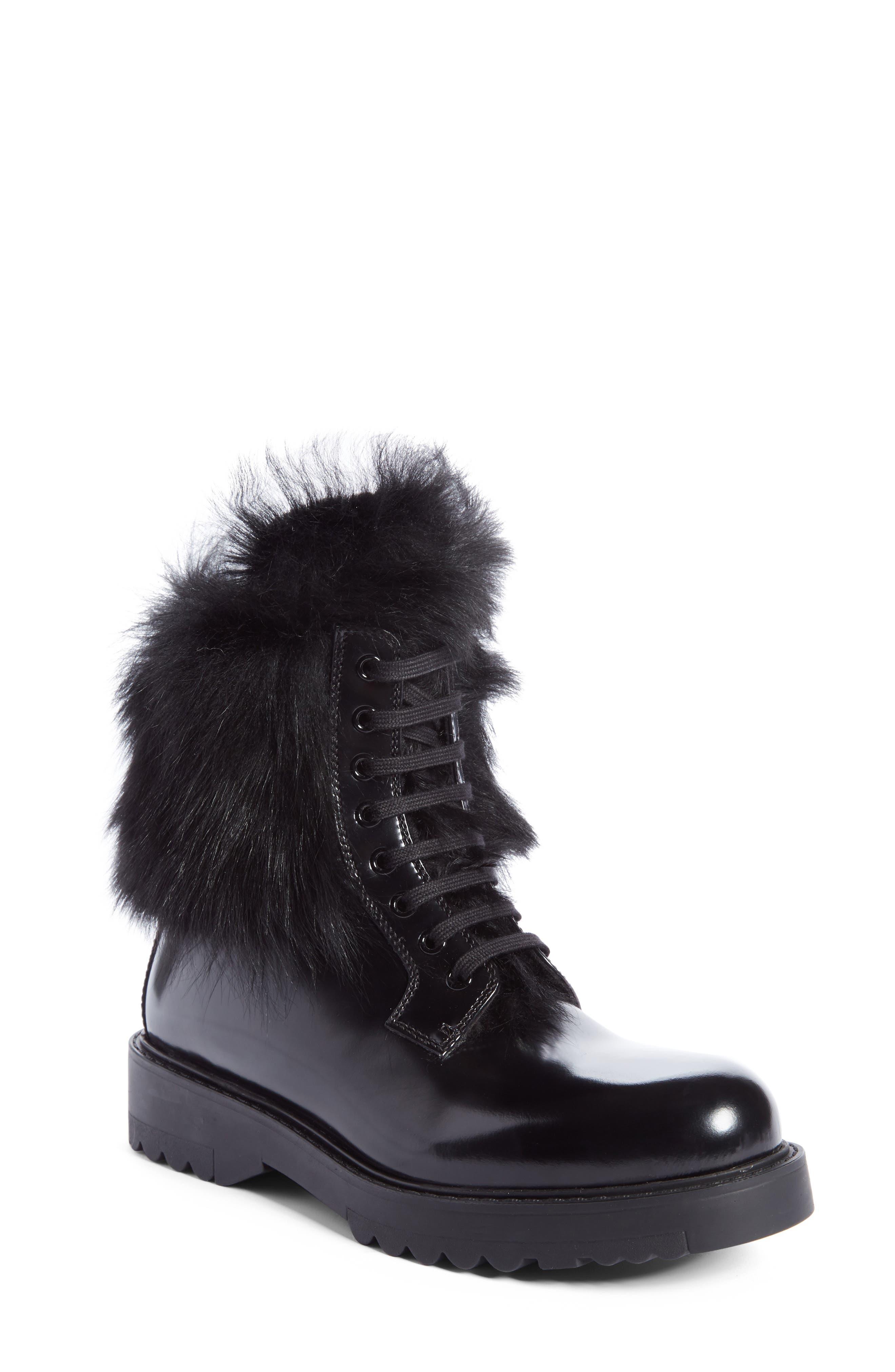 Main Image - Prada Genuine Shearling Lined Boot (Women)
