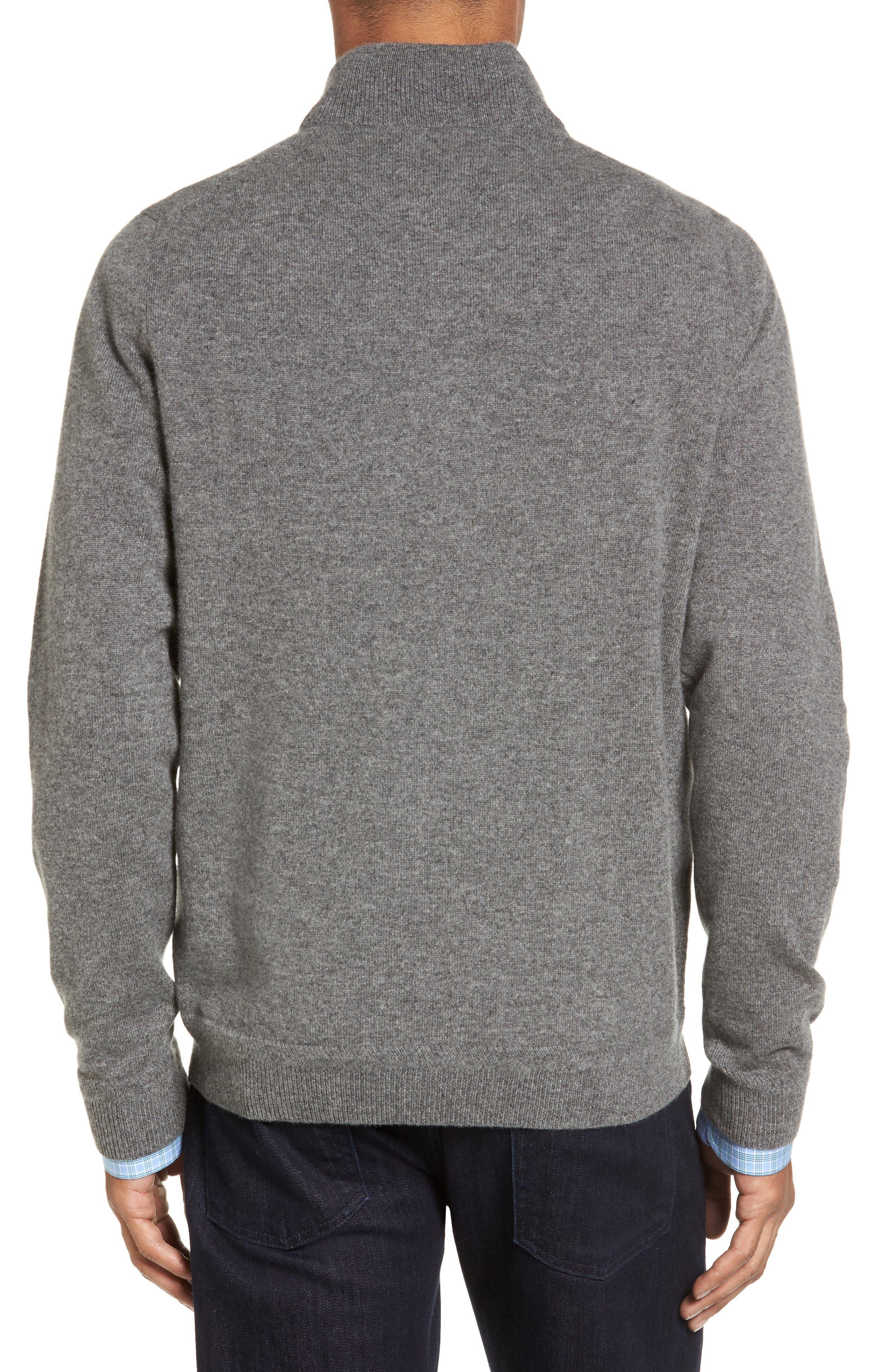 Alternate Image 2  - John W. Nordstrom® Quarter Zip Cashmere Sweater (Regular & Tall)