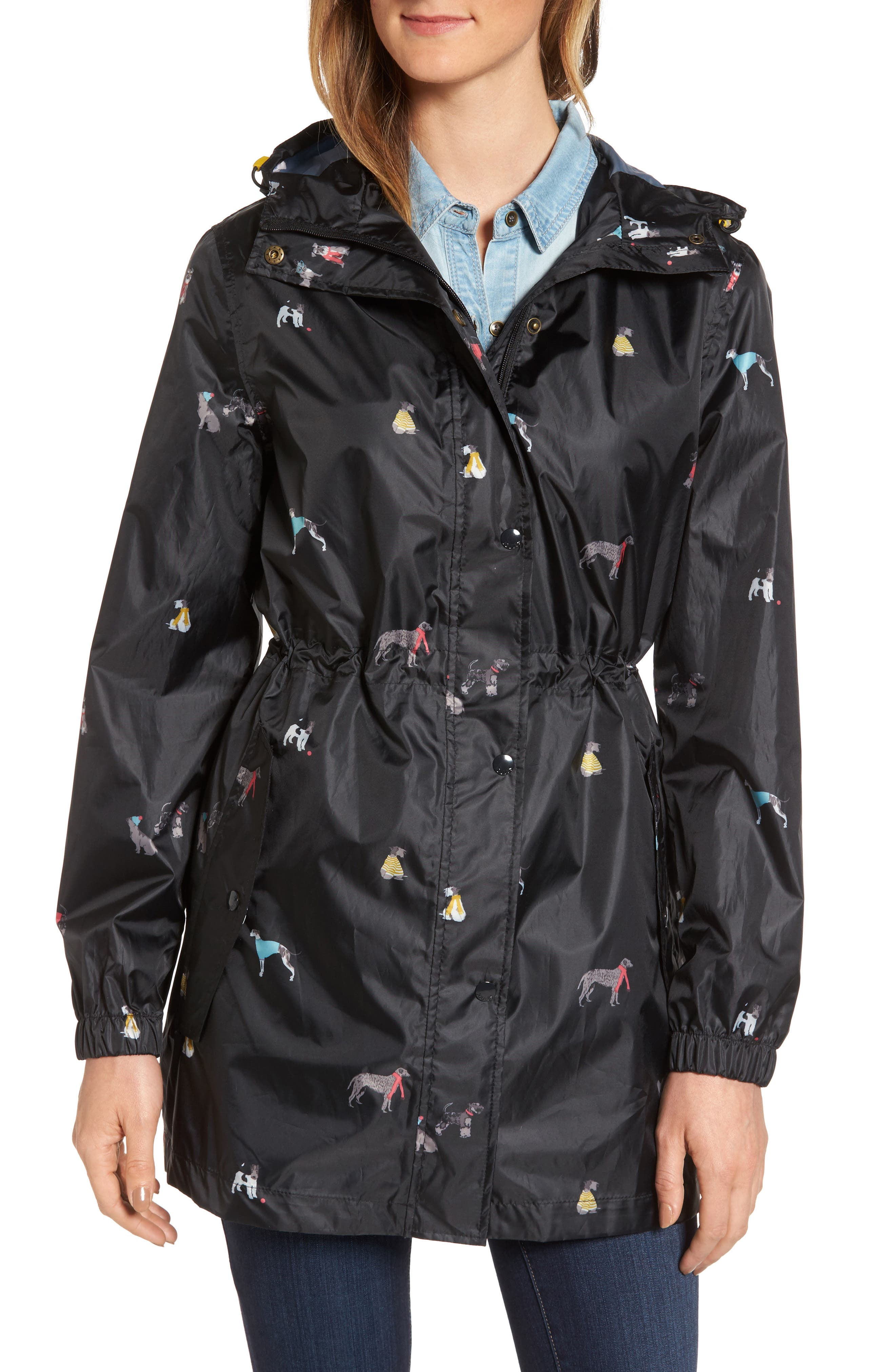 Alternate Image 4  - Joules Right as Rain Packable Print Hooded Raincoat