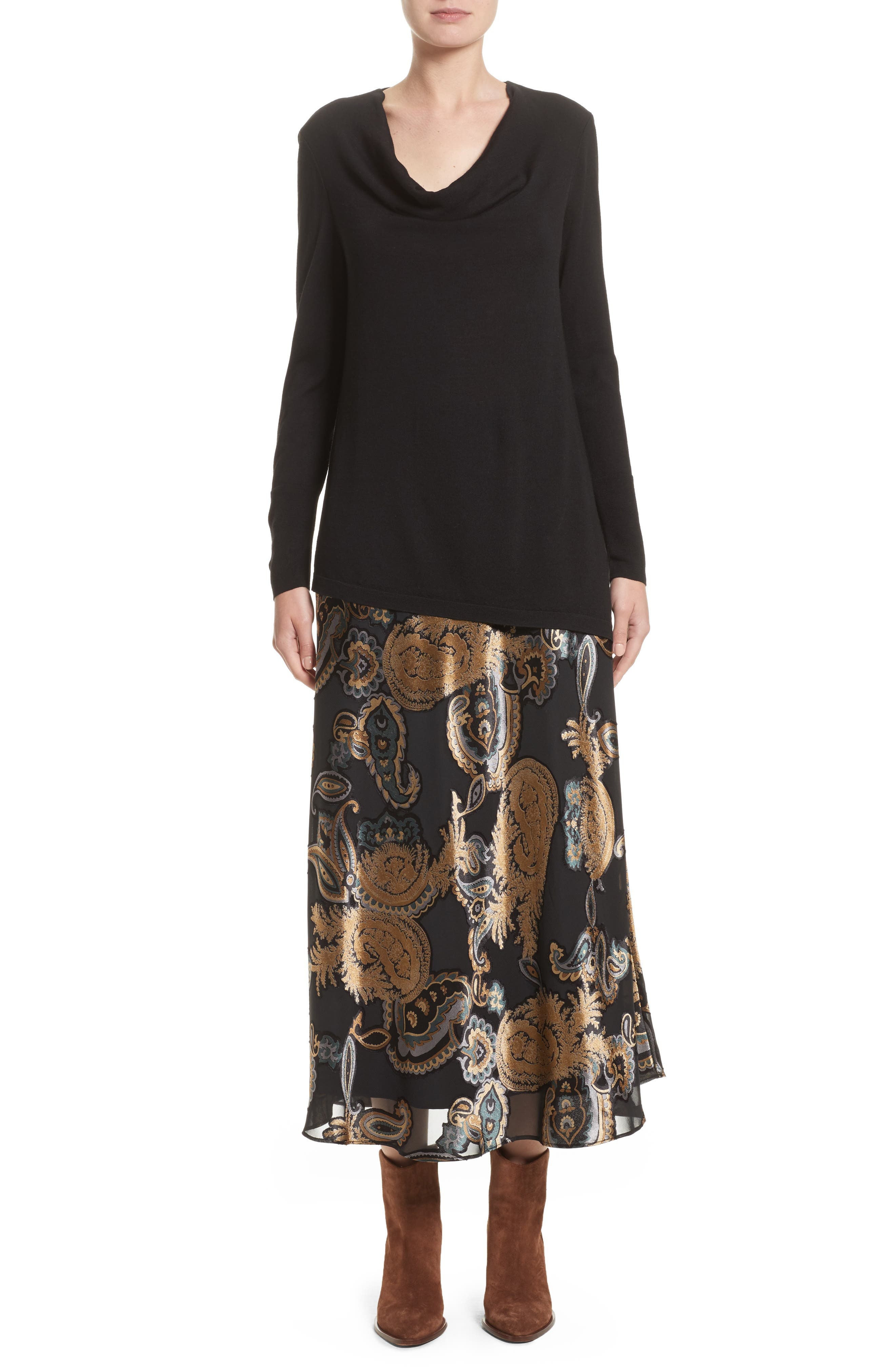 Alternate Image 8  - Lafayette 148 New York Kamara Renaissance Paisley Devoré Skirt