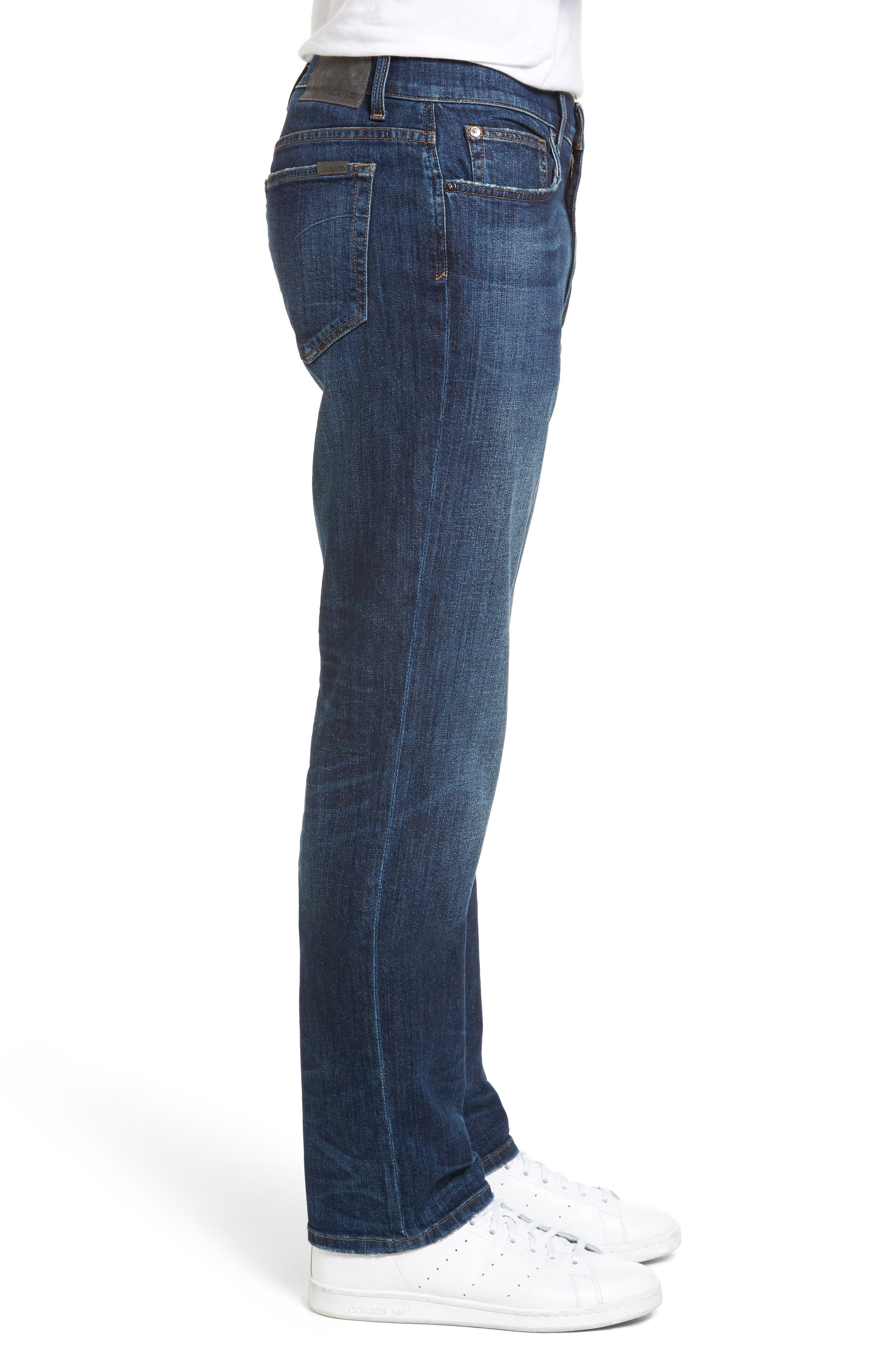 Classic Straight Fit Jeans,                             Alternate thumbnail 3, color,                             Vizzini