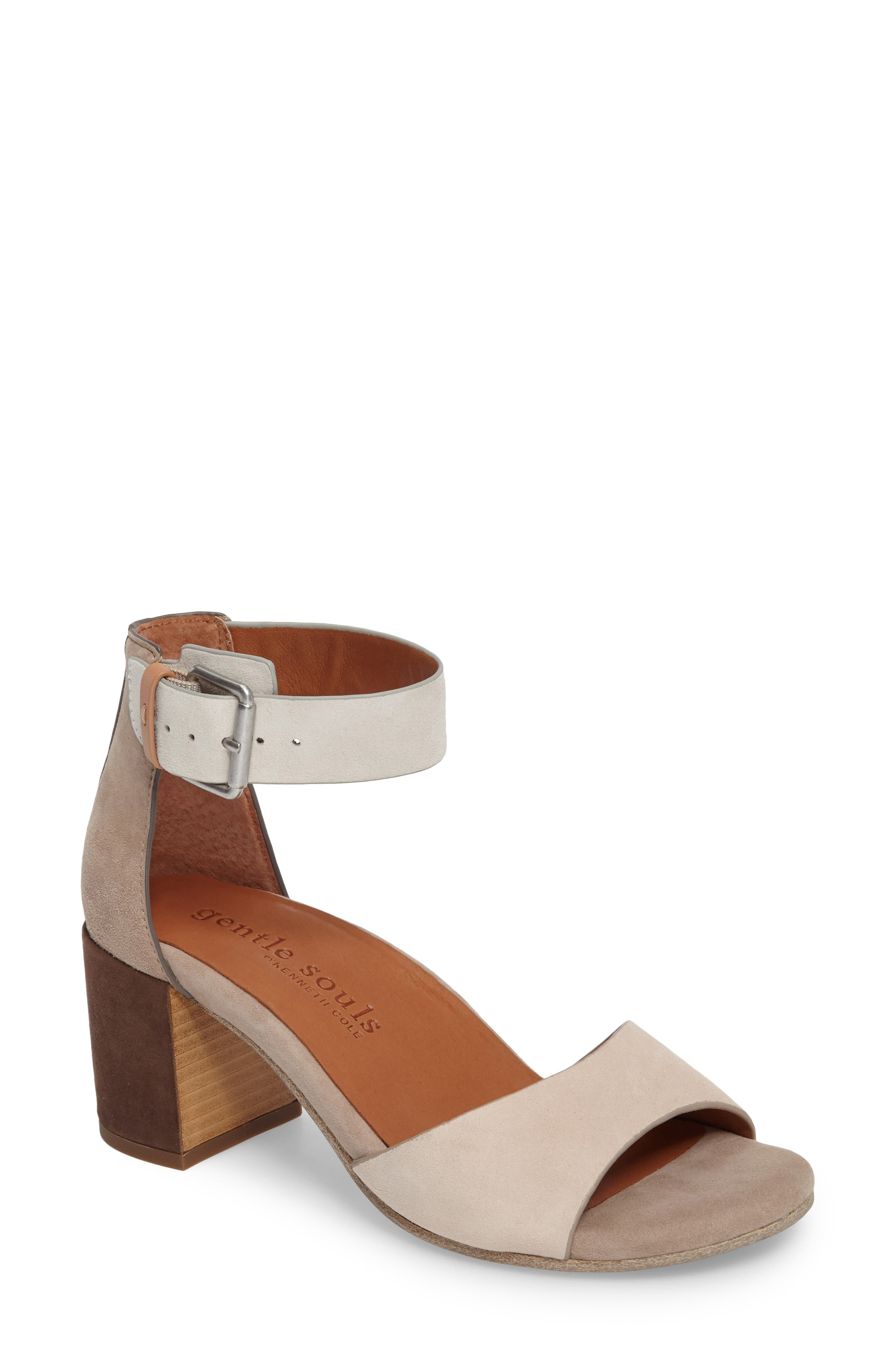 Gentle Souls Christa Block Heel Sandal (Women)