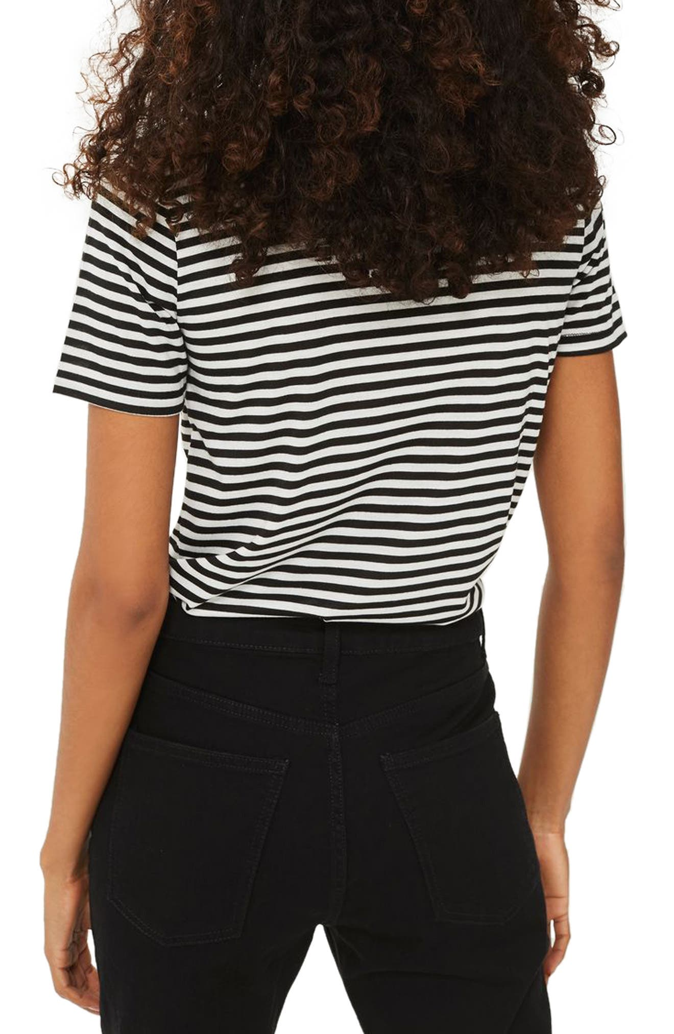 Alternate Image 2  - Topshop Peachy Stripe Tee