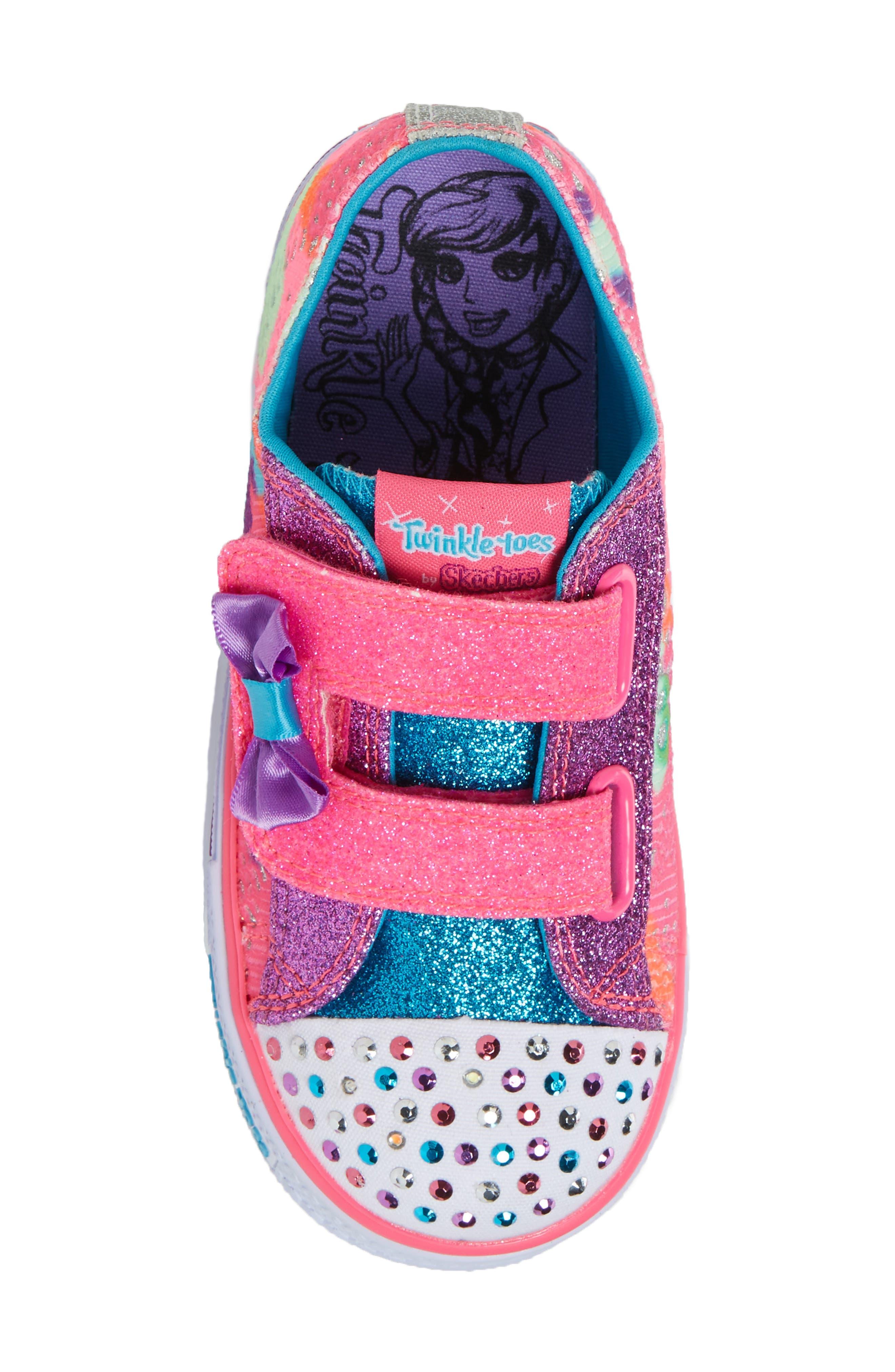 Alternate Image 5  - SKECHERS Twinkle Toes Shuffles Light-Up Sneaker (Walker & Toddler)