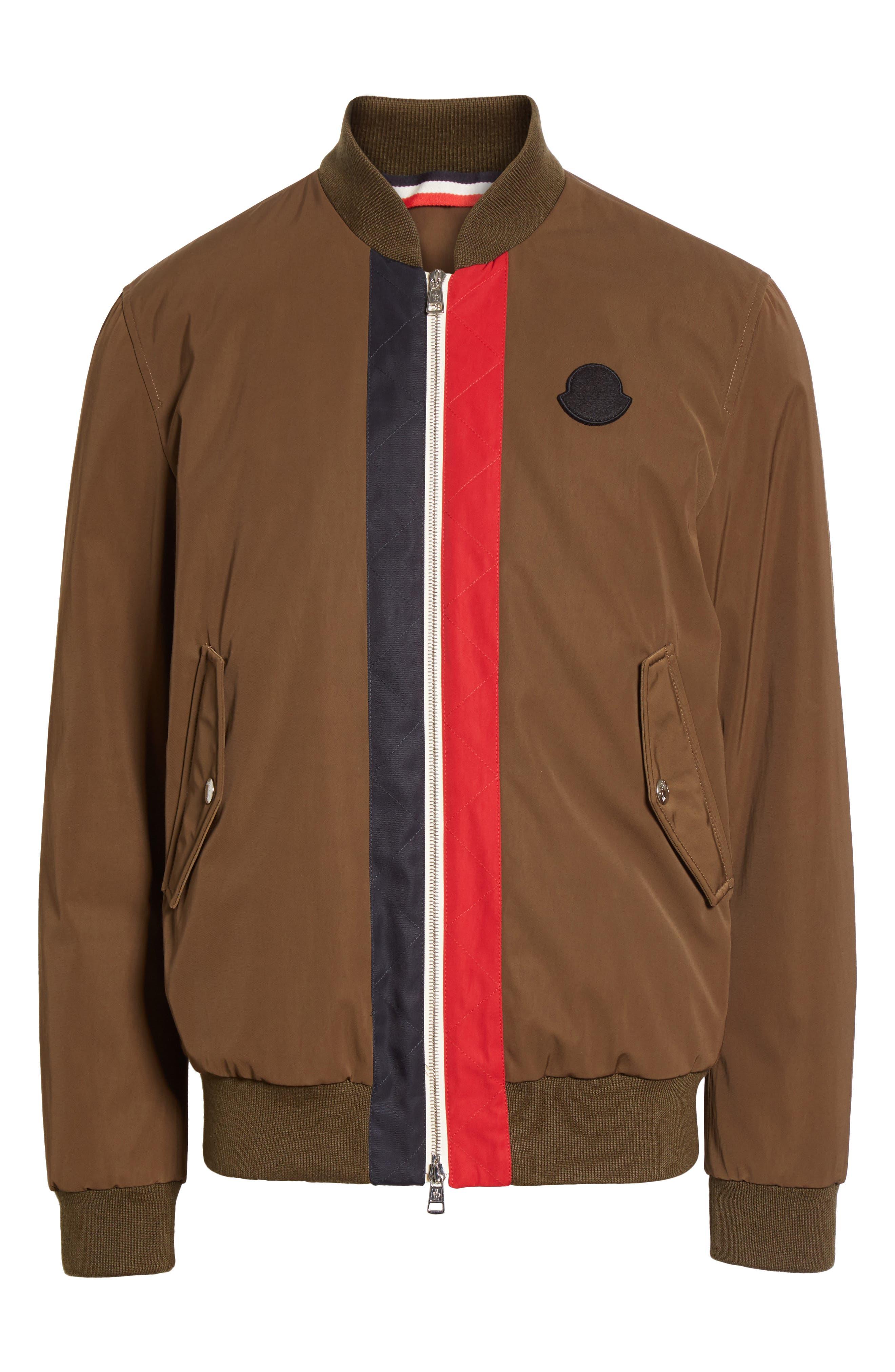 Alternate Image 6  - Moncler Tacna Stripe Bomber Jacket