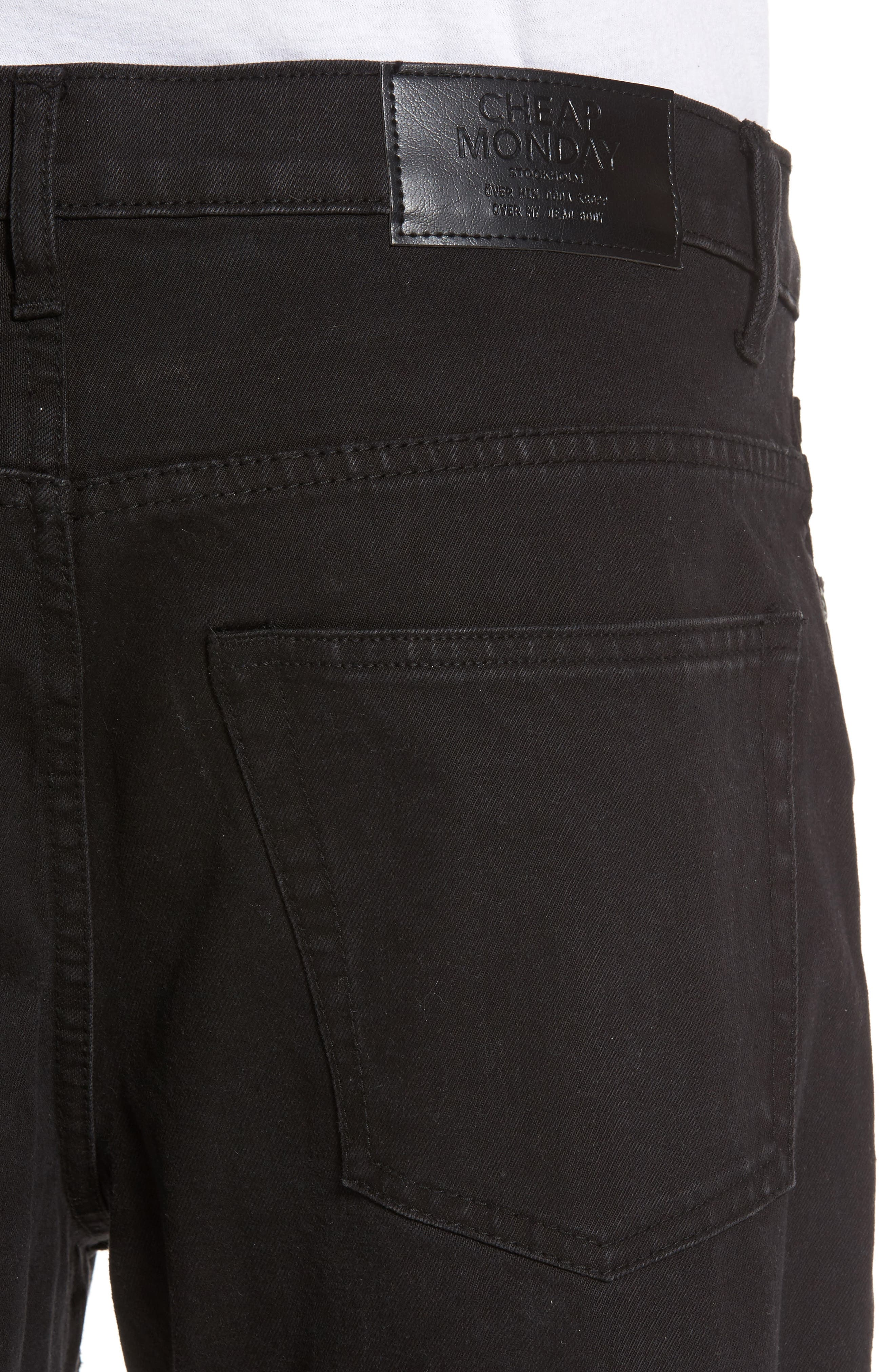In Law Skinny Fit Jeans,                             Alternate thumbnail 4, color,                             Black