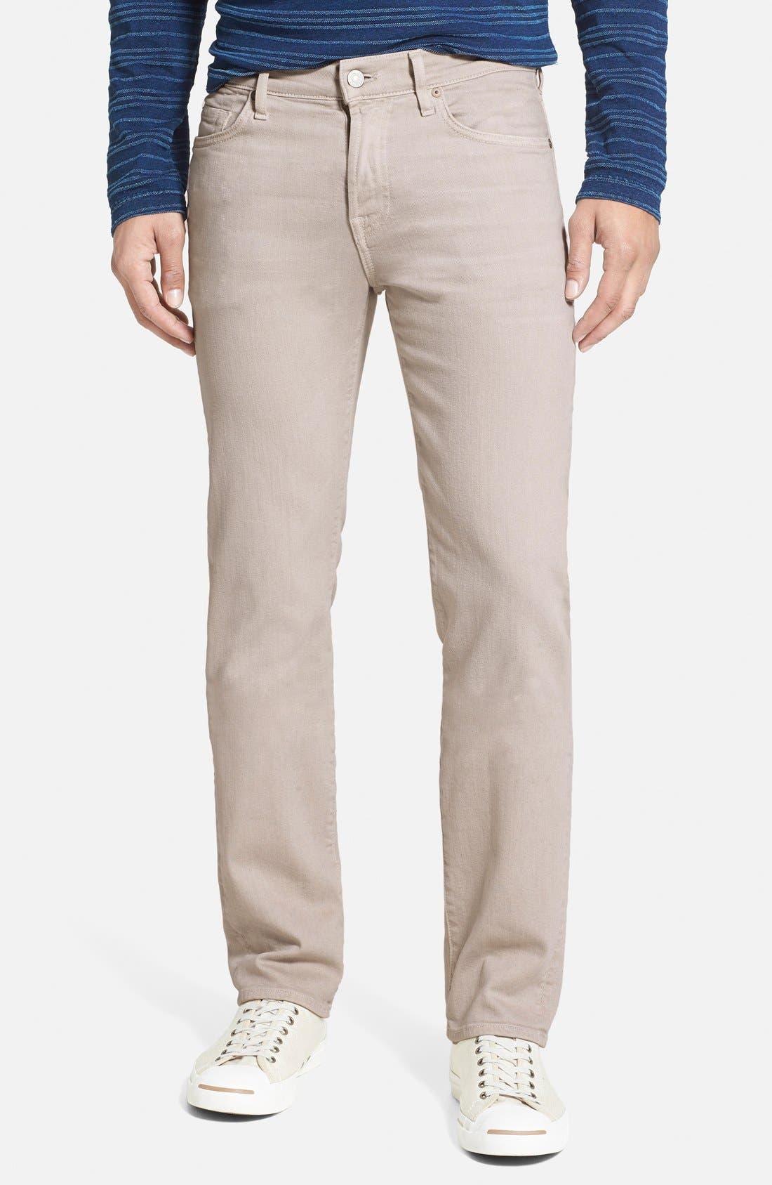 'Slimmy - Luxe Performance' Slim Fit Jeans,                         Main,                         color, Light Khaki