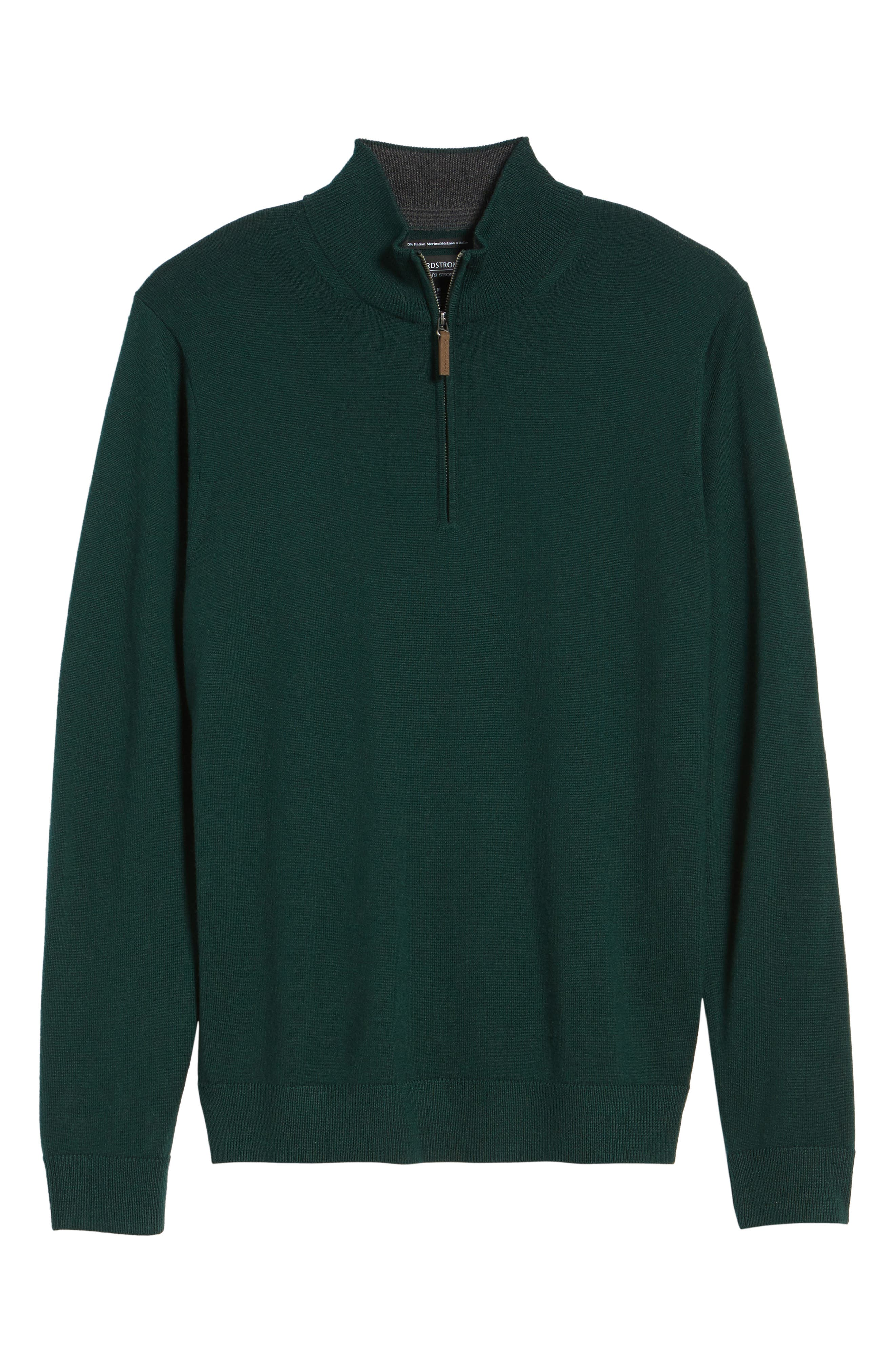 Alternate Image 6  - Nordstrom Men's Shop Quarter Zip Wool Pullover