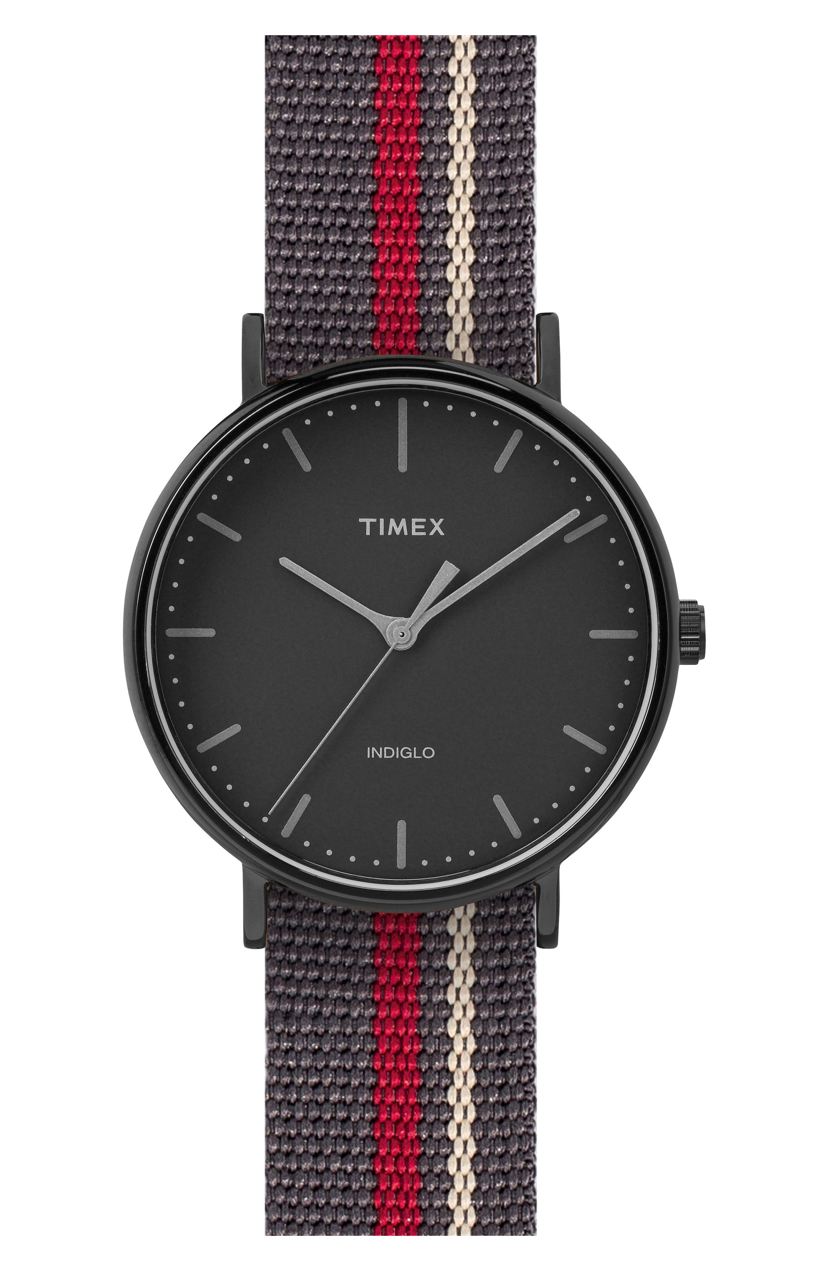 TIMEX<SUP>®</SUP> ARCHIVE Timex<sup>®</sup> Fairfield Pavilion Round Nylon Strap Watch, 41mm