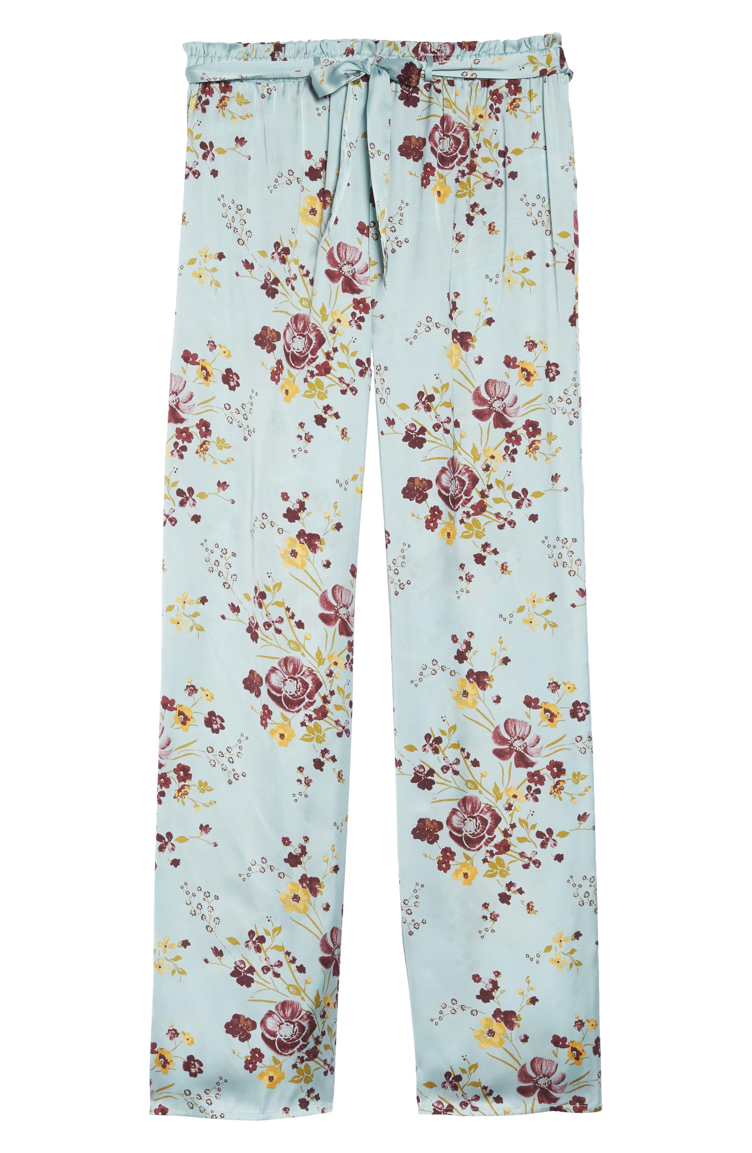 In My Dreams Pajama Pants,                             Alternate thumbnail 4, color,                             Blue Cloud Pretty Floral