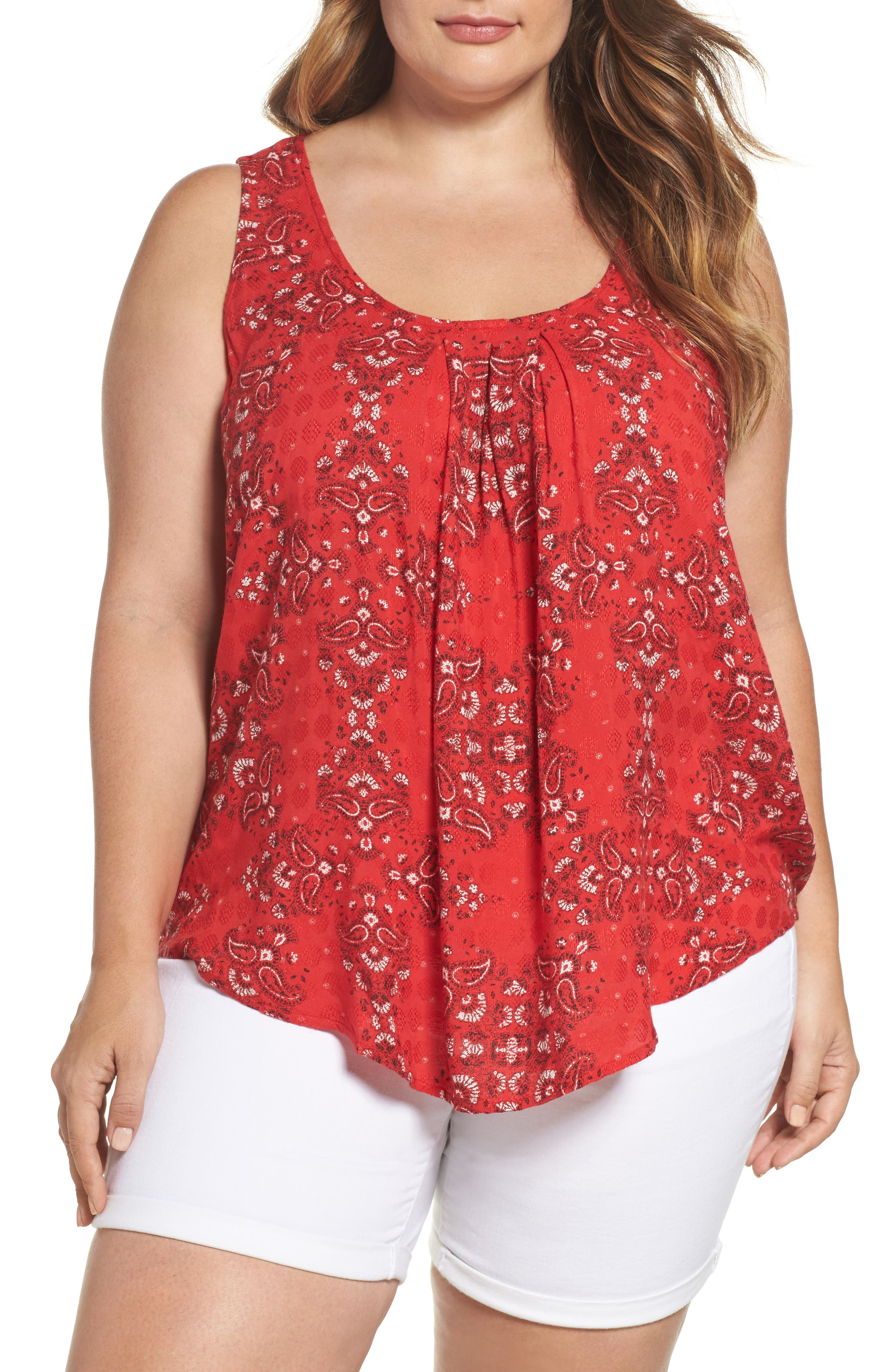 Lucky Brand Paisley Tank (Plus Size)