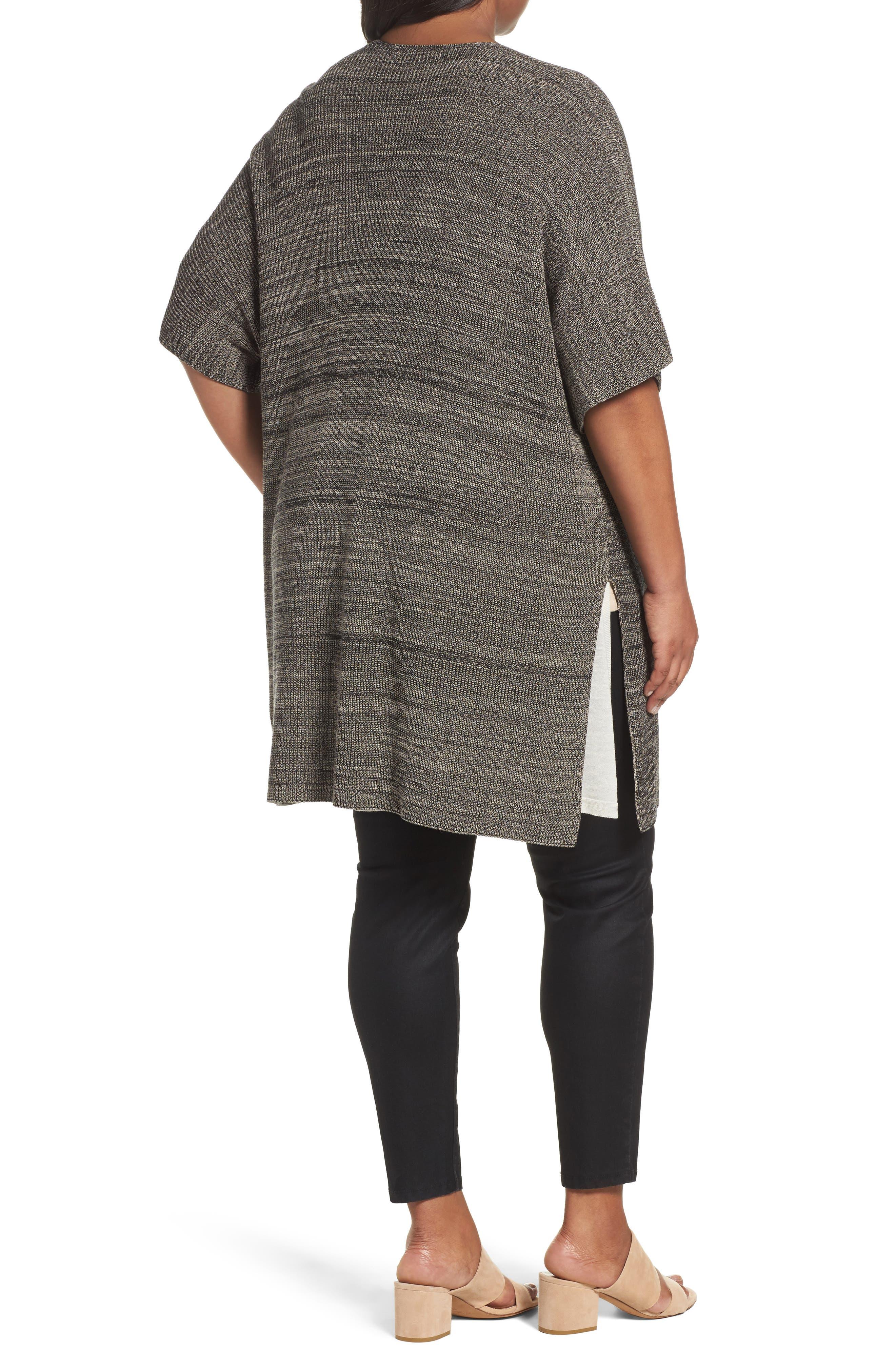 Alternate Image 2  - Eileen Fisher Tencel® Knit Kimono Cardigan (Plus Size)