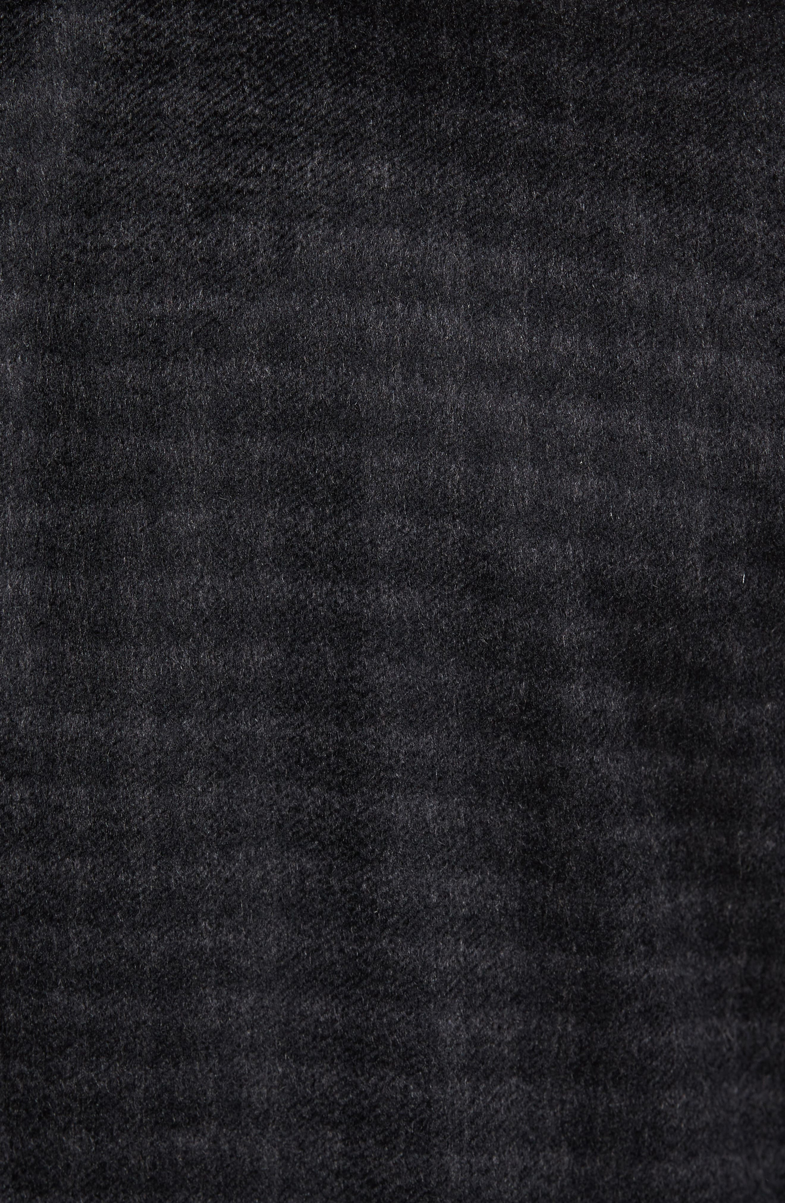 Cameron Check Cashmere Overcoat,                             Alternate thumbnail 5, color,                             Charcoal