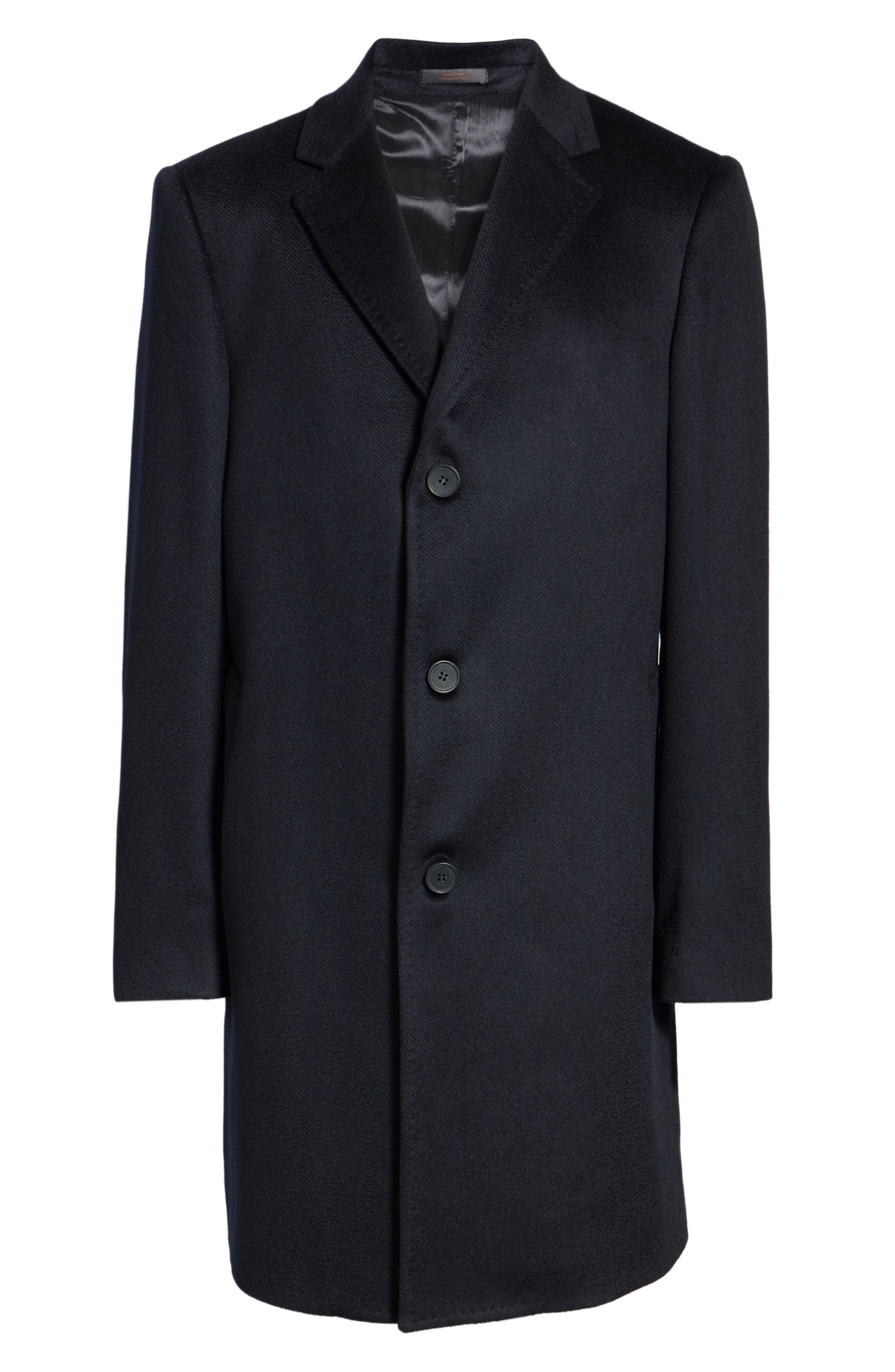 Culton Cashmere Overcoat,                             Alternate thumbnail 6, color,                             Navy