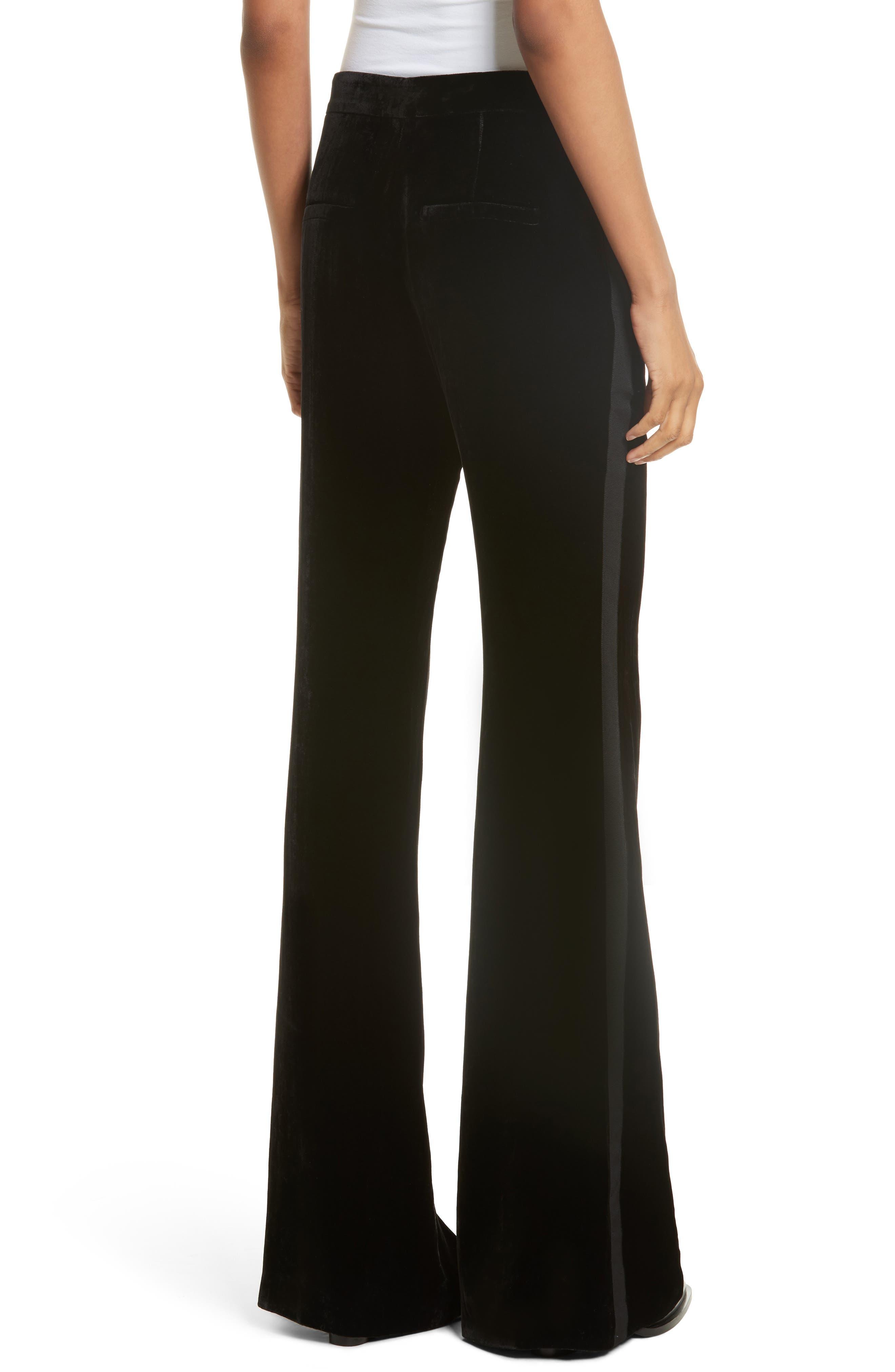 Alternate Image 3  - Veronica Beard Ramsey Velvet Wide Leg Tuxedo Pants