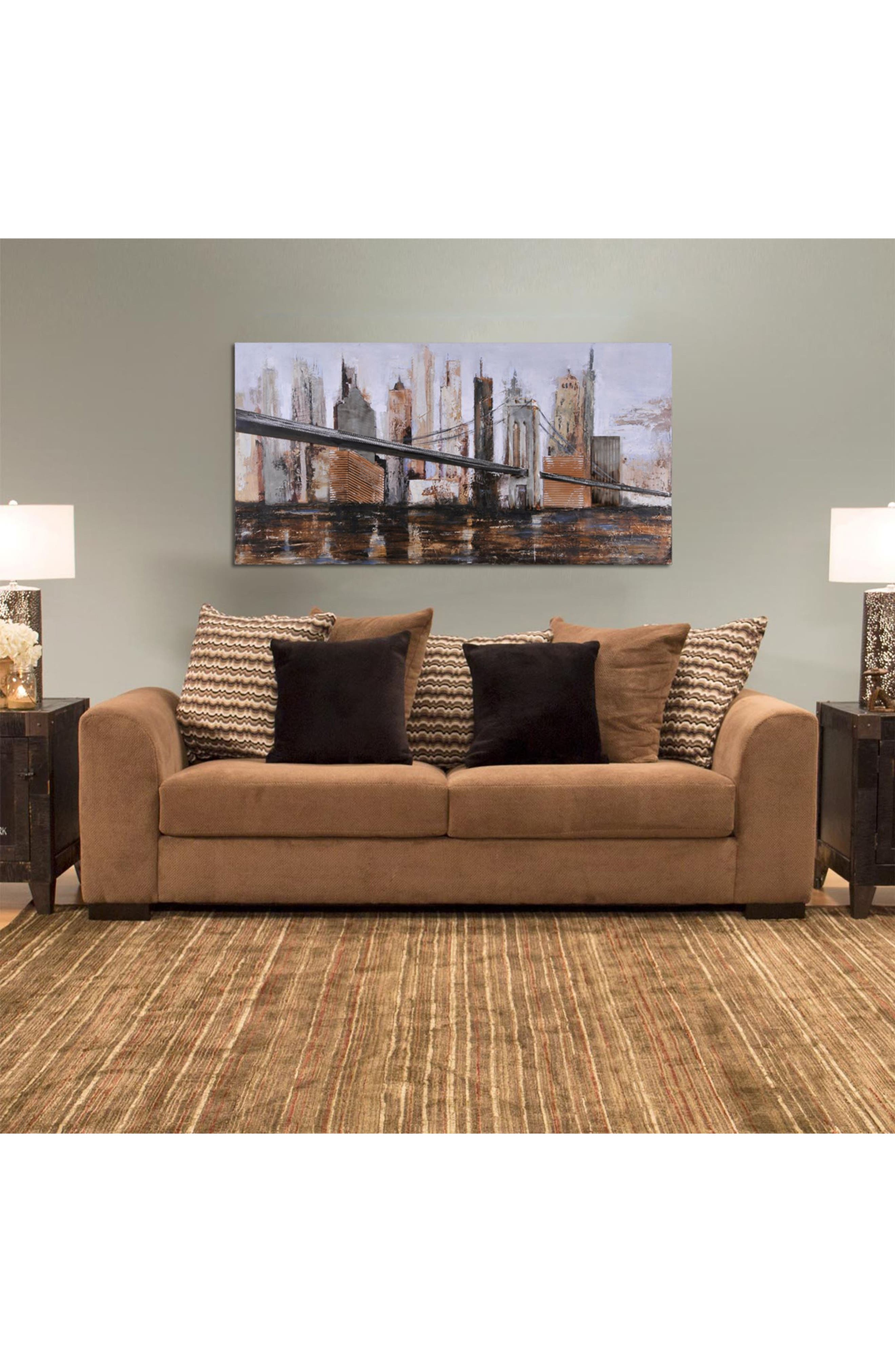 'Urban Style' Canvas Wall Art,                             Alternate thumbnail 3, color,                             Brown