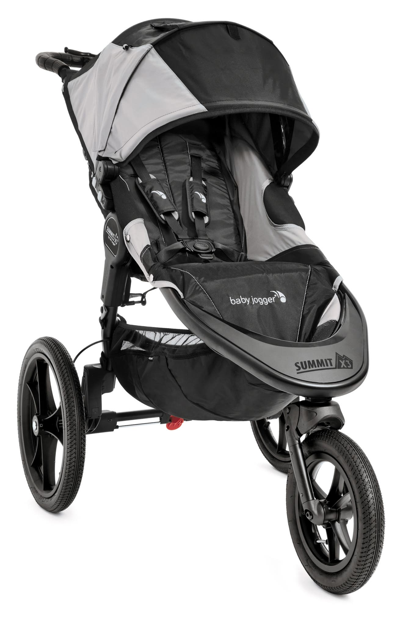 Summit X3 Single Jogging Stroller & Weather Shield,                         Main,                         color, Black And Gray