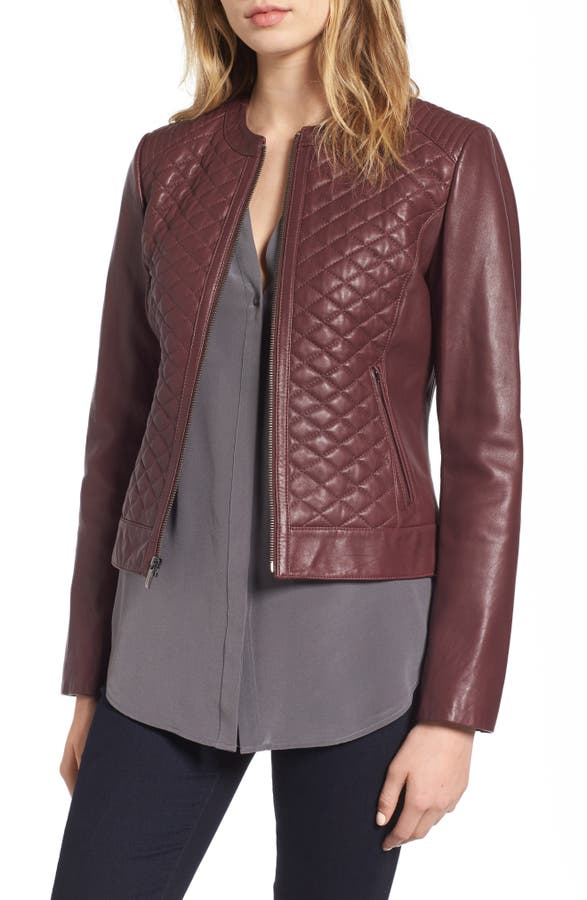 Cole Haan Quilted Leather Moto Jacket   Nordstrom : quilted leather moto jacket - Adamdwight.com