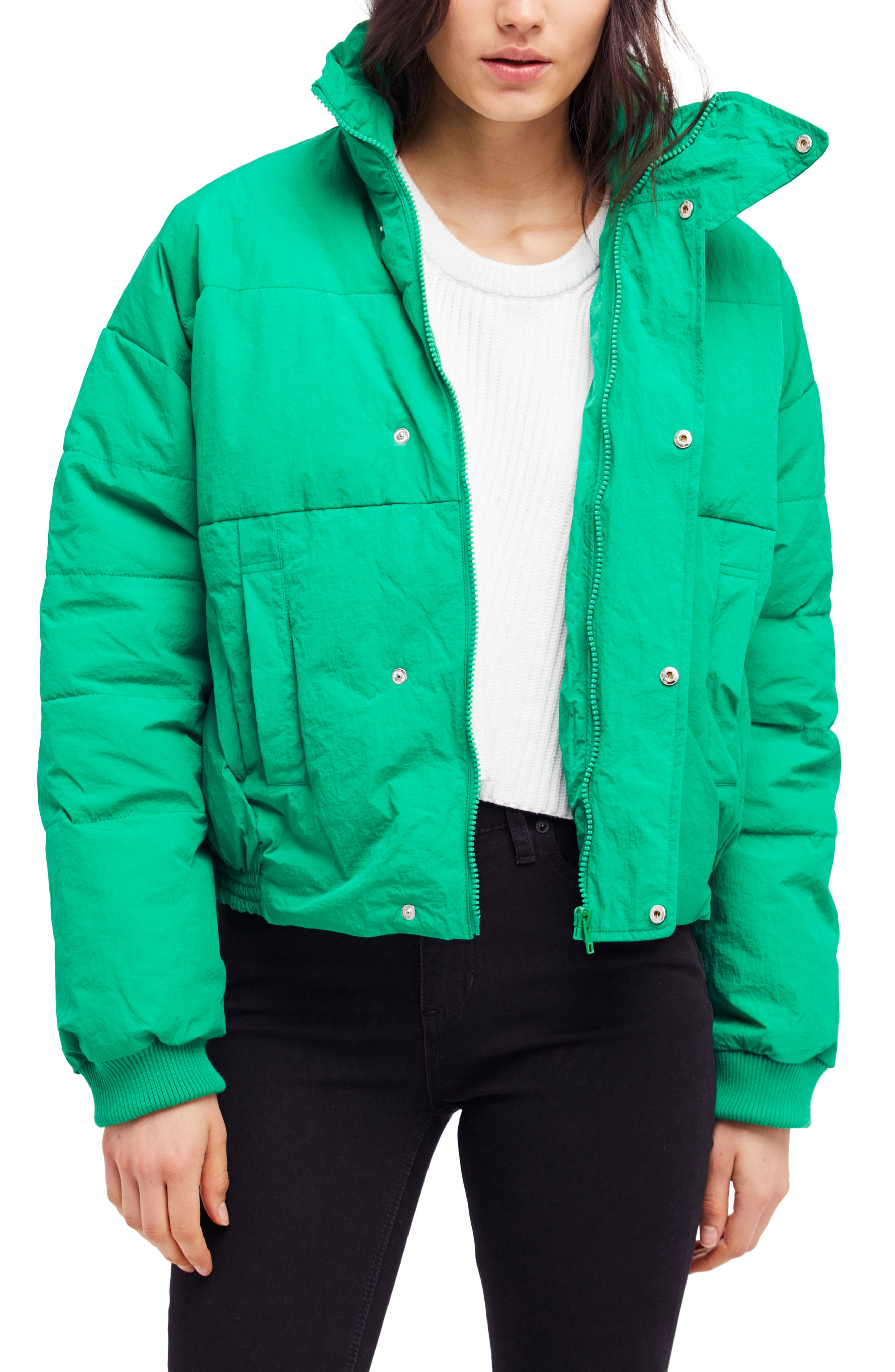 Cold Rush Puffer Jacket,                         Main,                         color, Green