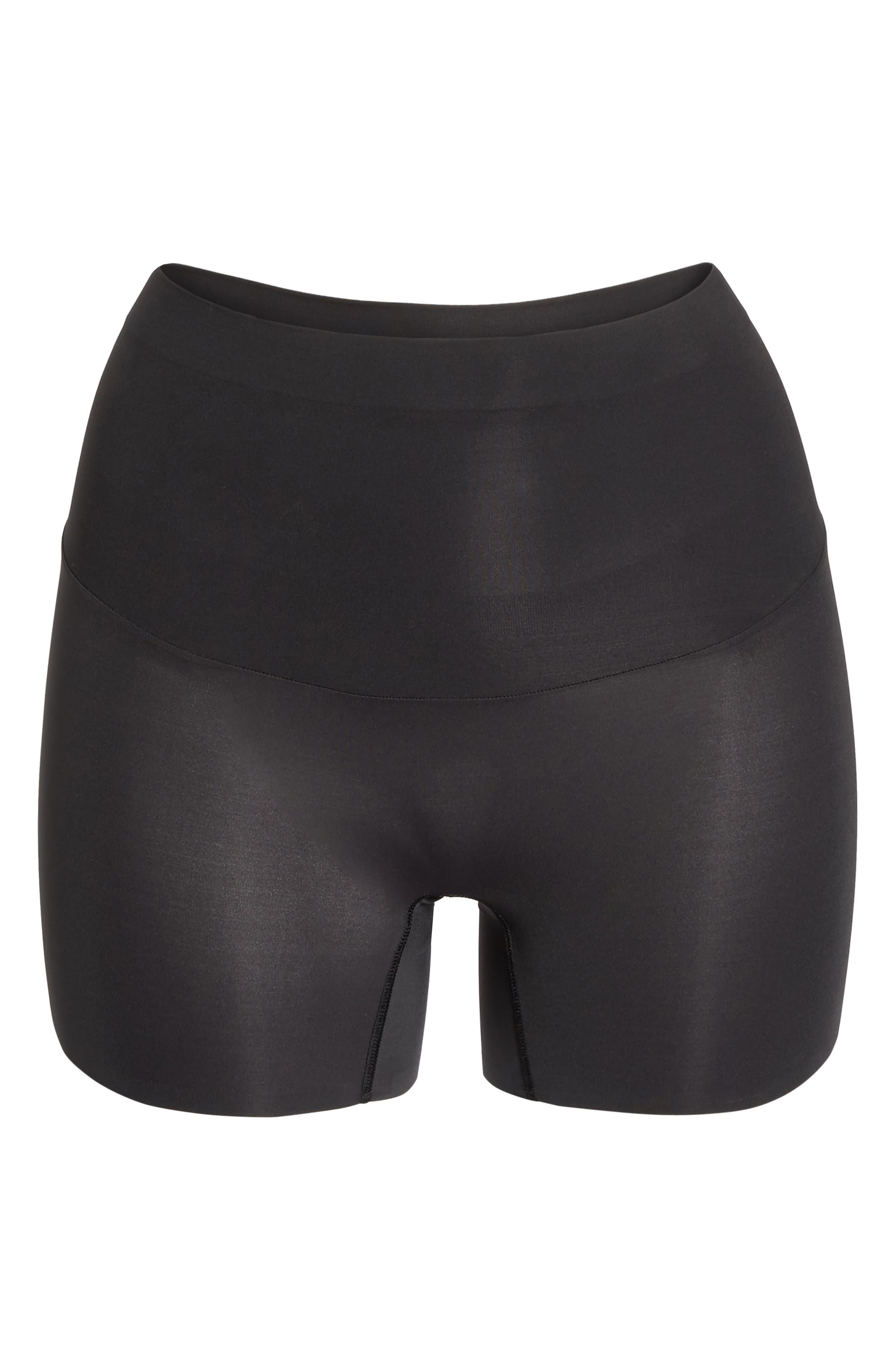 Shape My Day Girl Shorts,                             Alternate thumbnail 4, color,                             Black