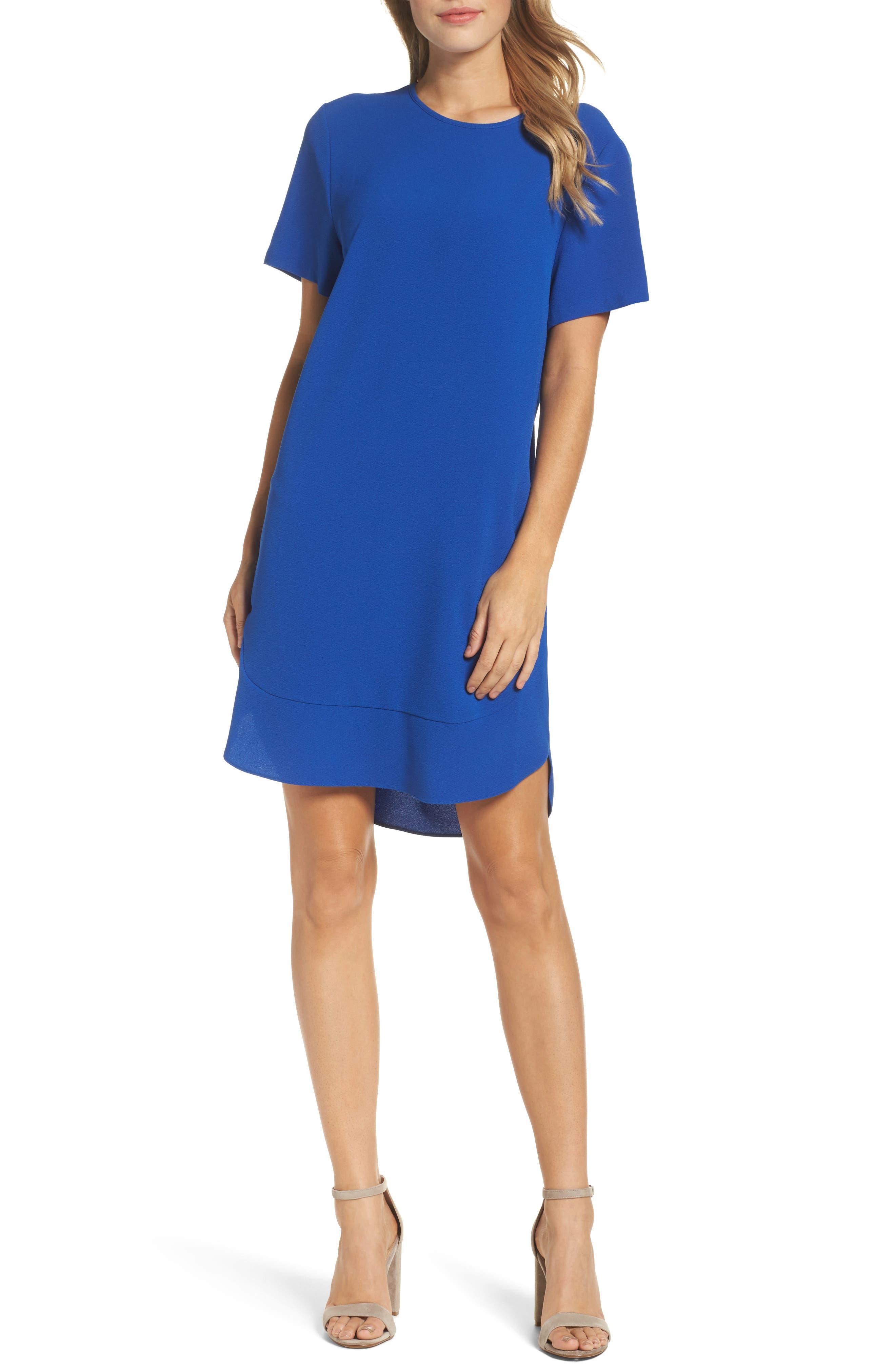 Emerson Shift Dress,                         Main,                         color, Cobalt