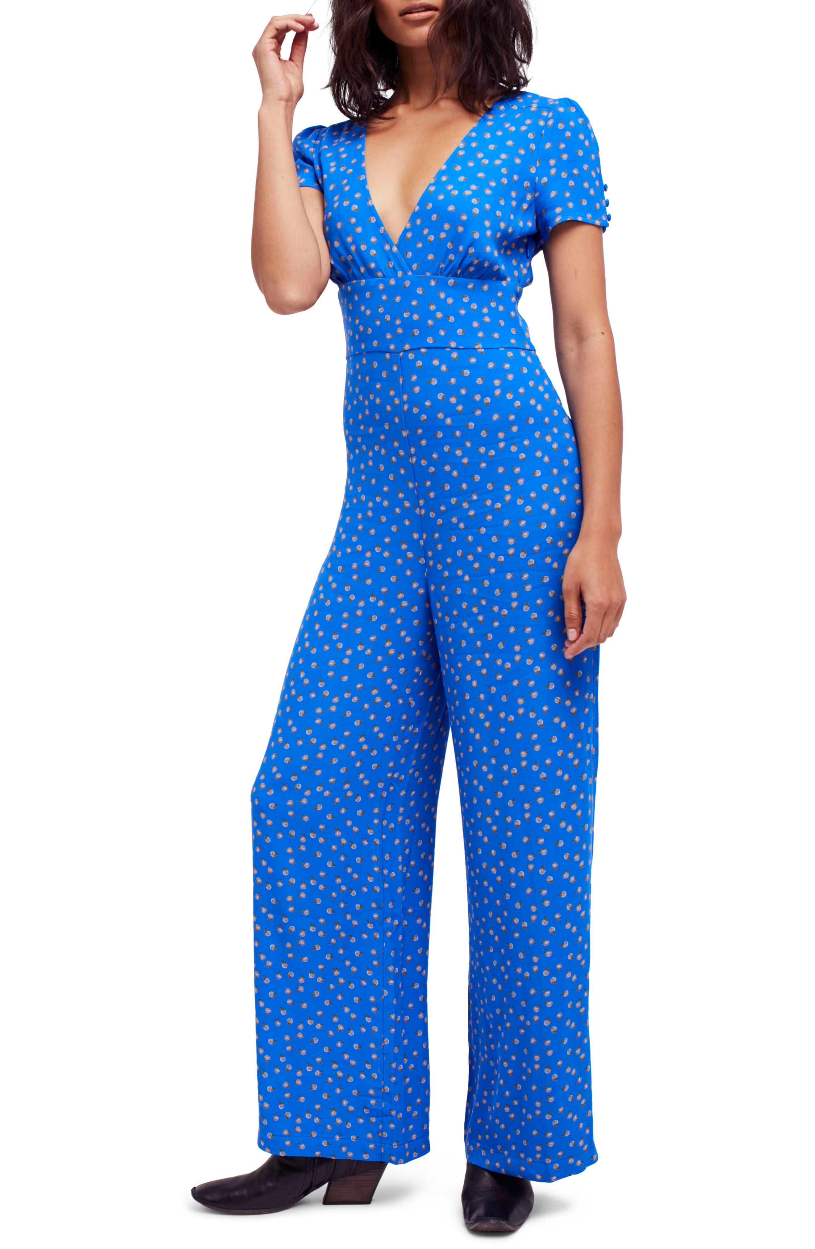 Mia Jumpsuit,                         Main,                         color, Blue