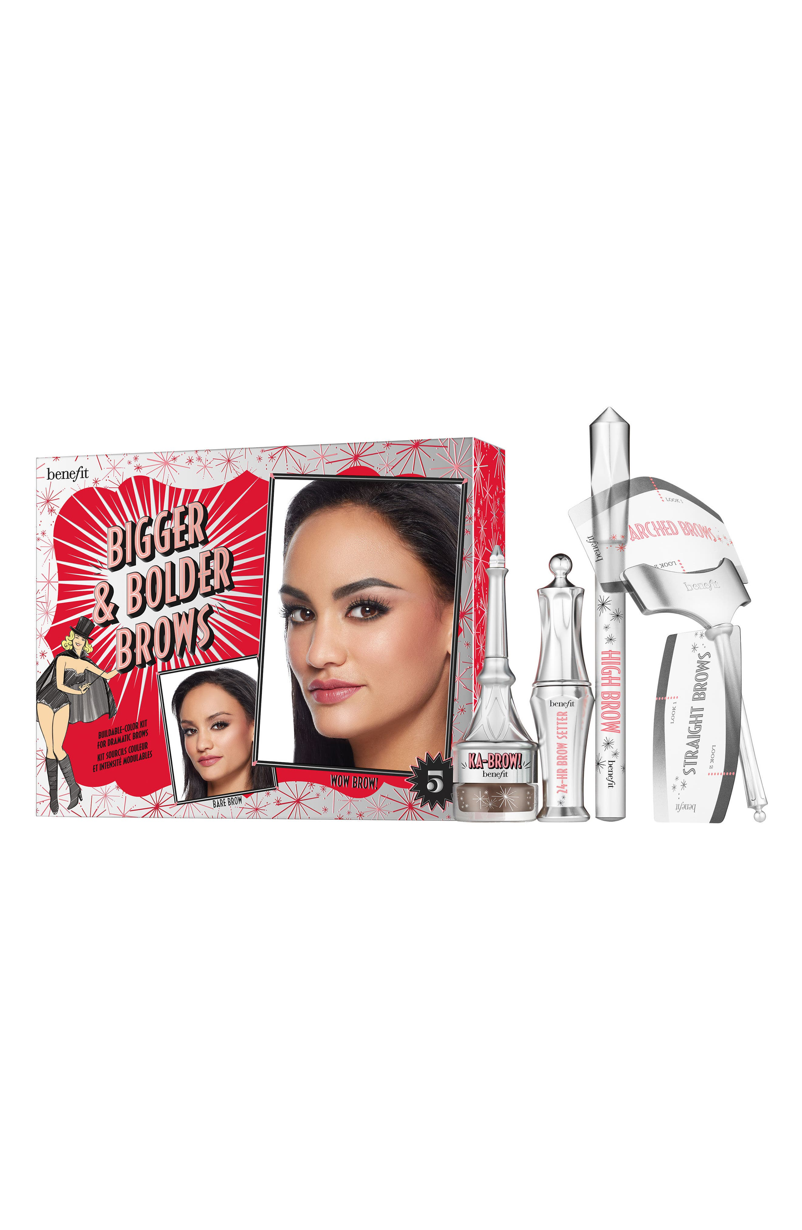 Benefit Bigger & Bolder Brows Kit Buildable Color Kit for Dramatic Brows ($62 Value)