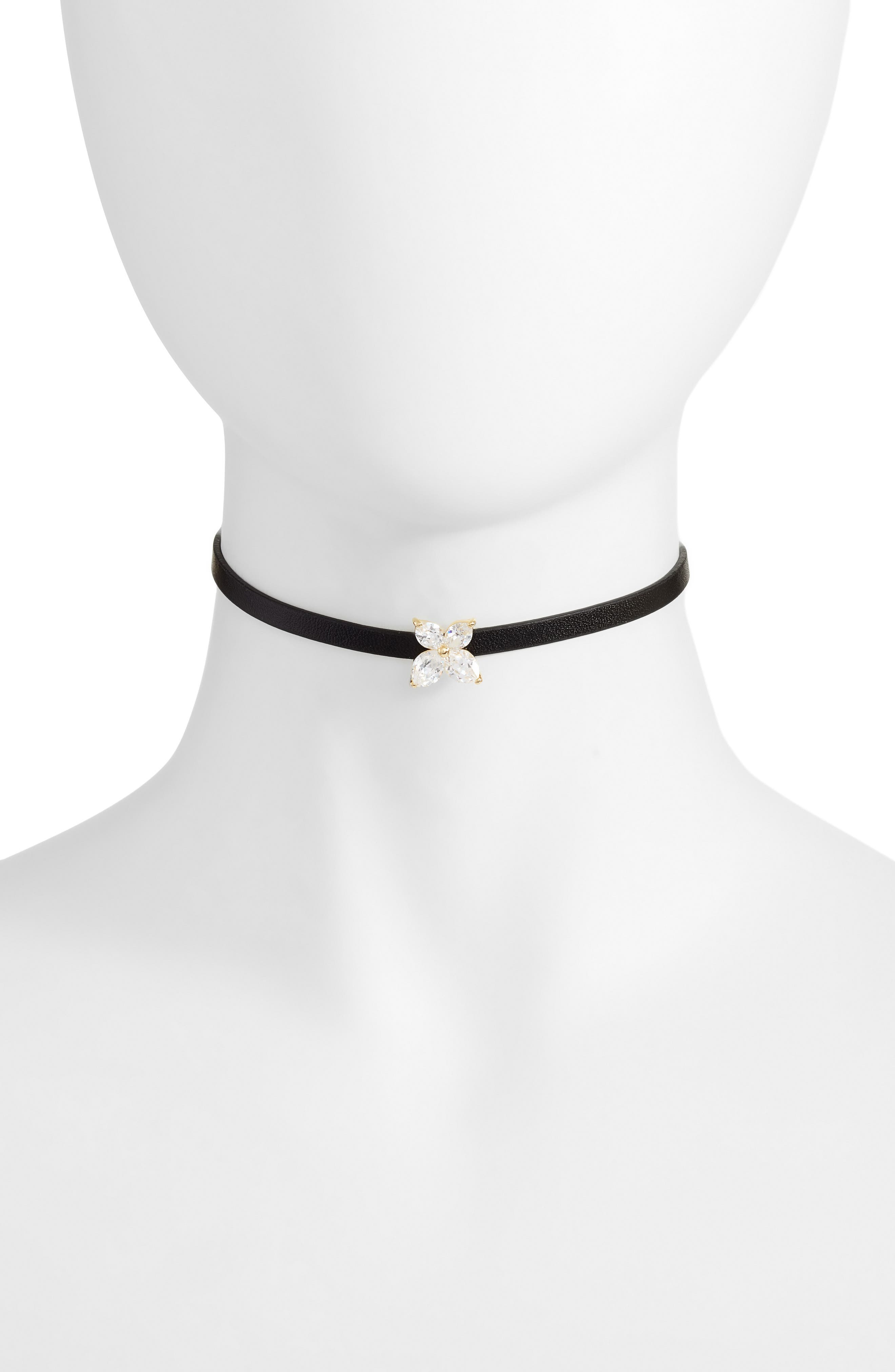 Marquise Choker Necklace,                         Main,                         color, Gold