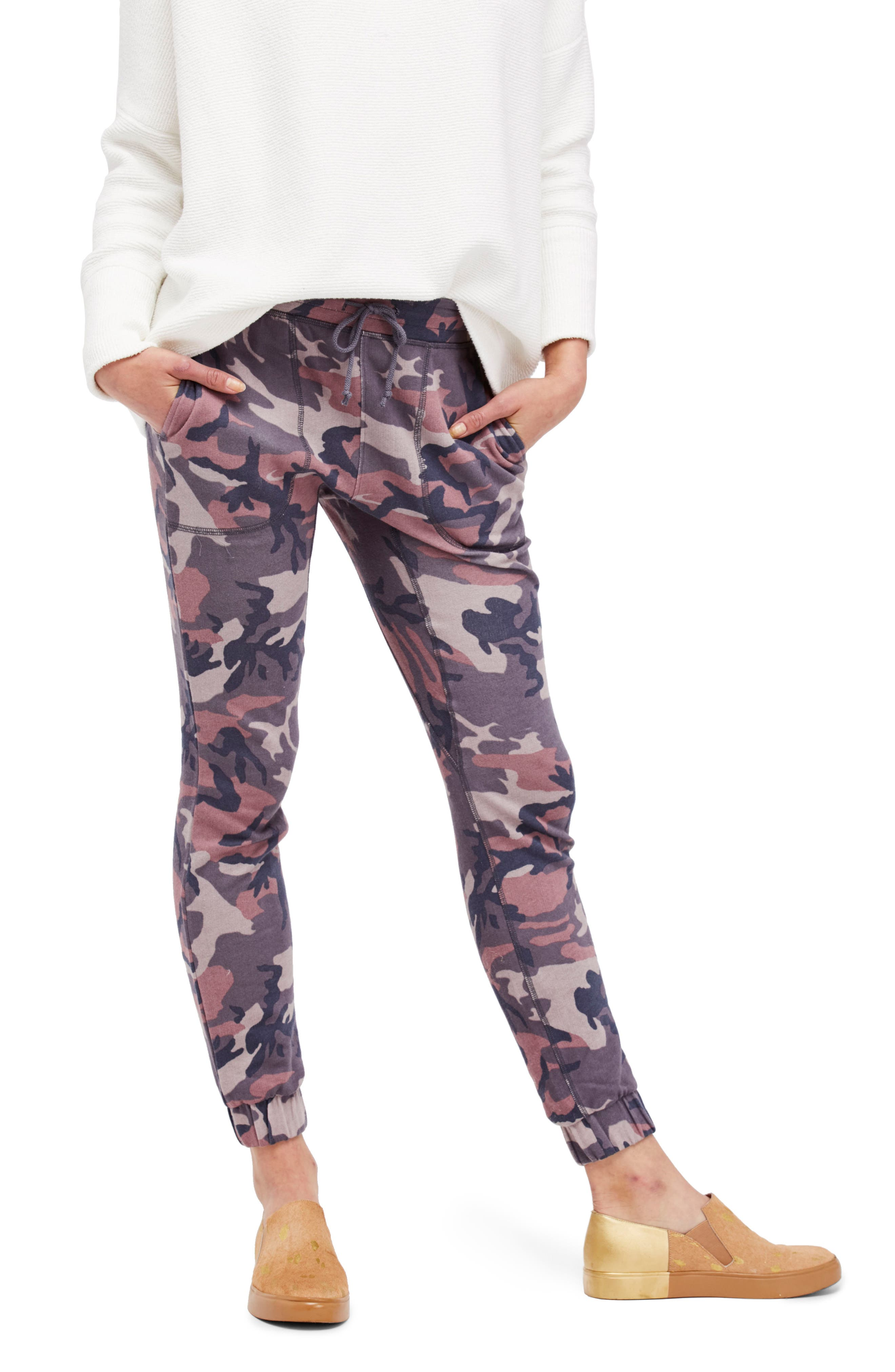 Alternate Image 1 Selected - Free People Camo Jogger Pants