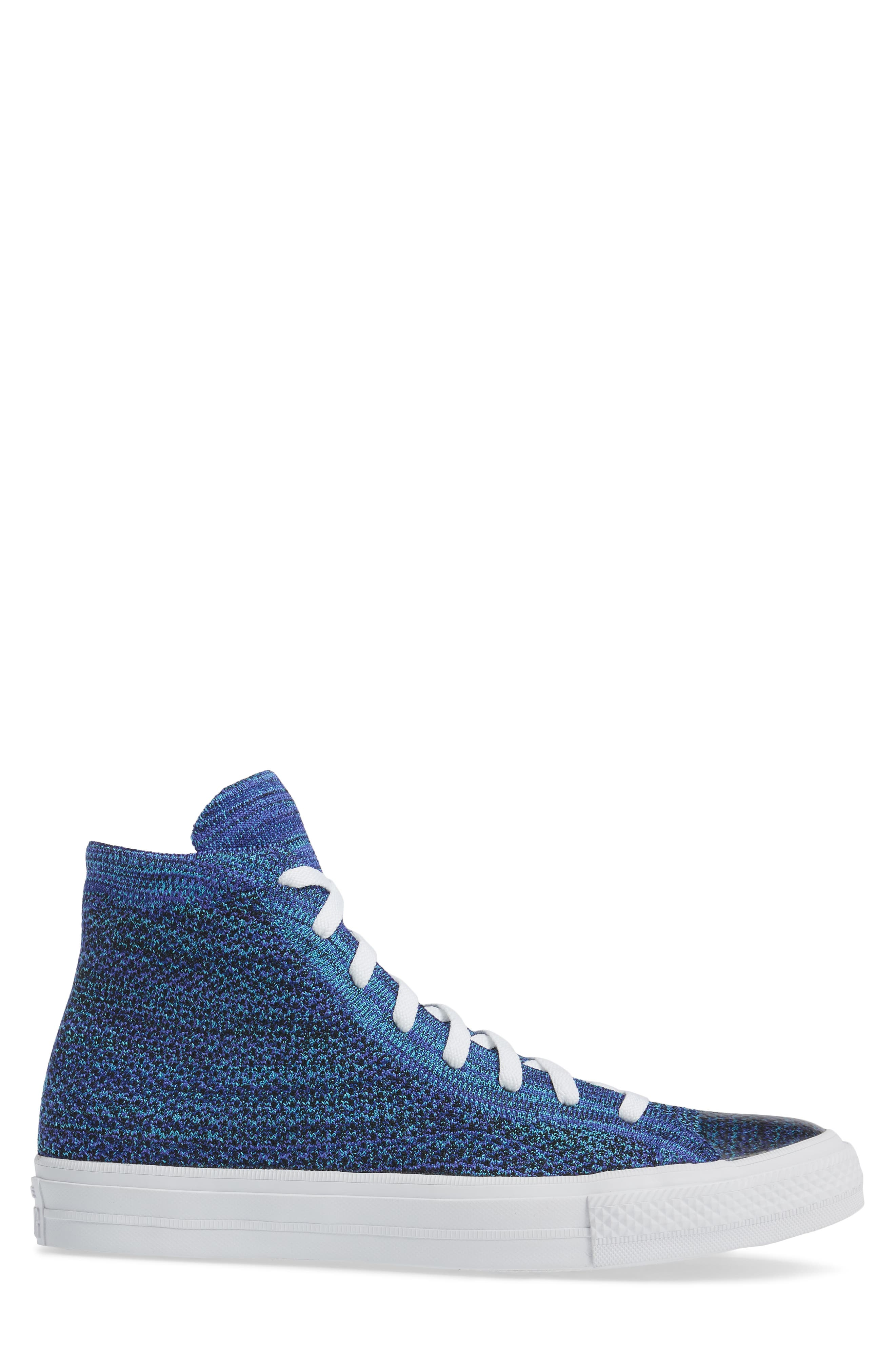 Chuck Taylor<sup>®</sup> All Star<sup>®</sup> Flyknit Hi Sneaker,                             Alternate thumbnail 3, color,                             Indigo