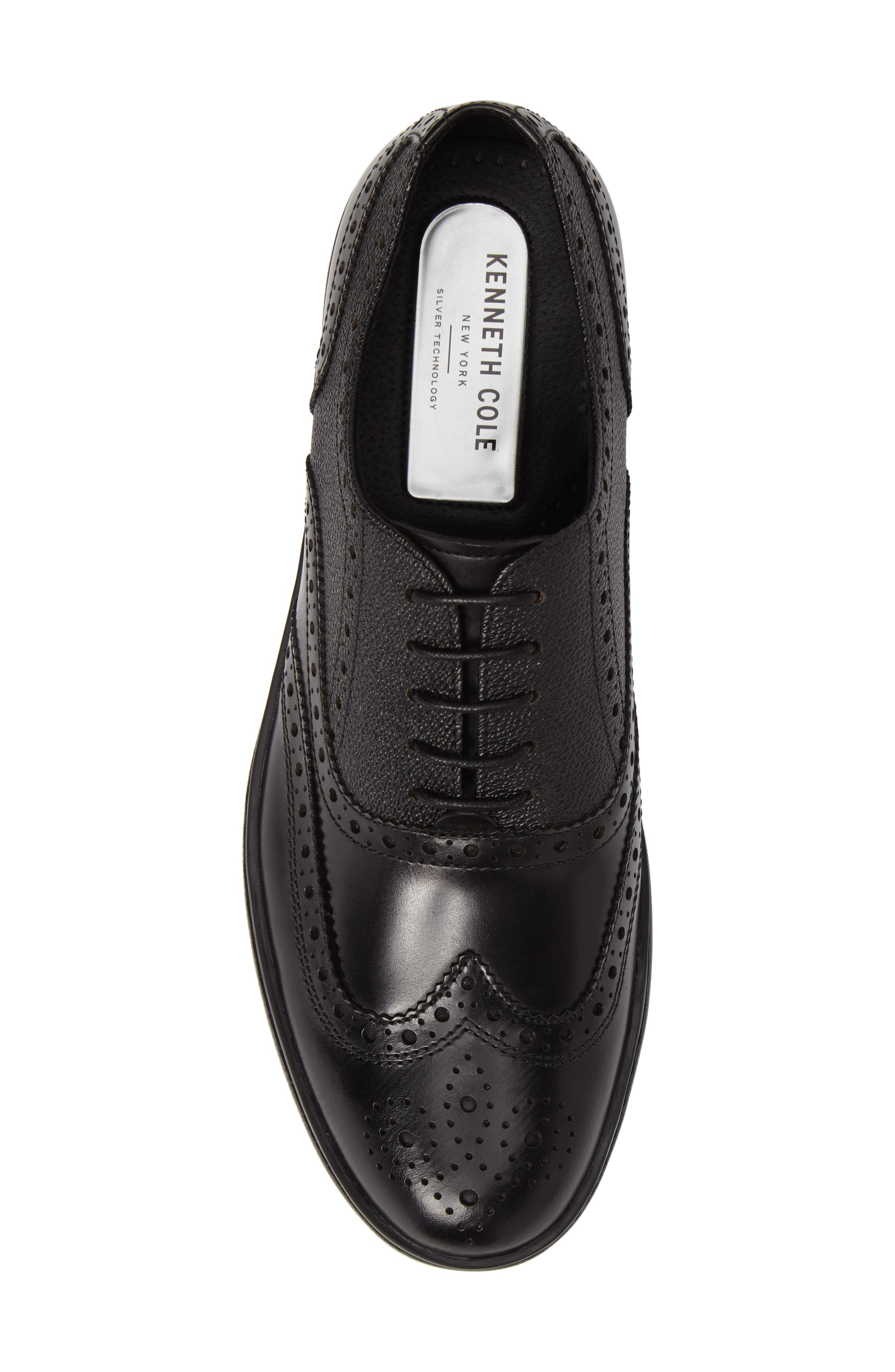 Wingtip,                             Alternate thumbnail 5, color,                             Black Leather