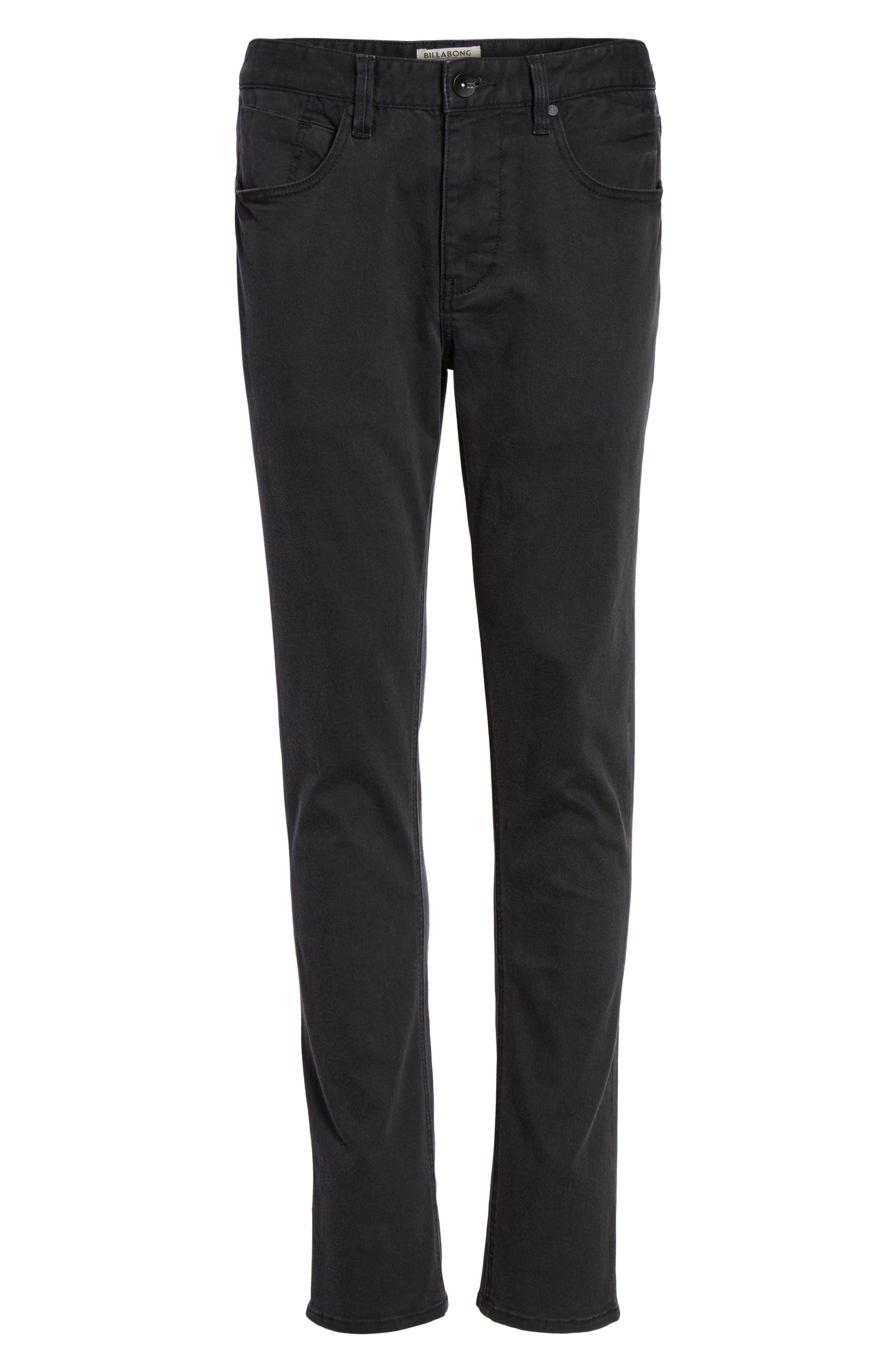 Alternate Image 6  - Billabong Outside Slim Straight Leg Jeans