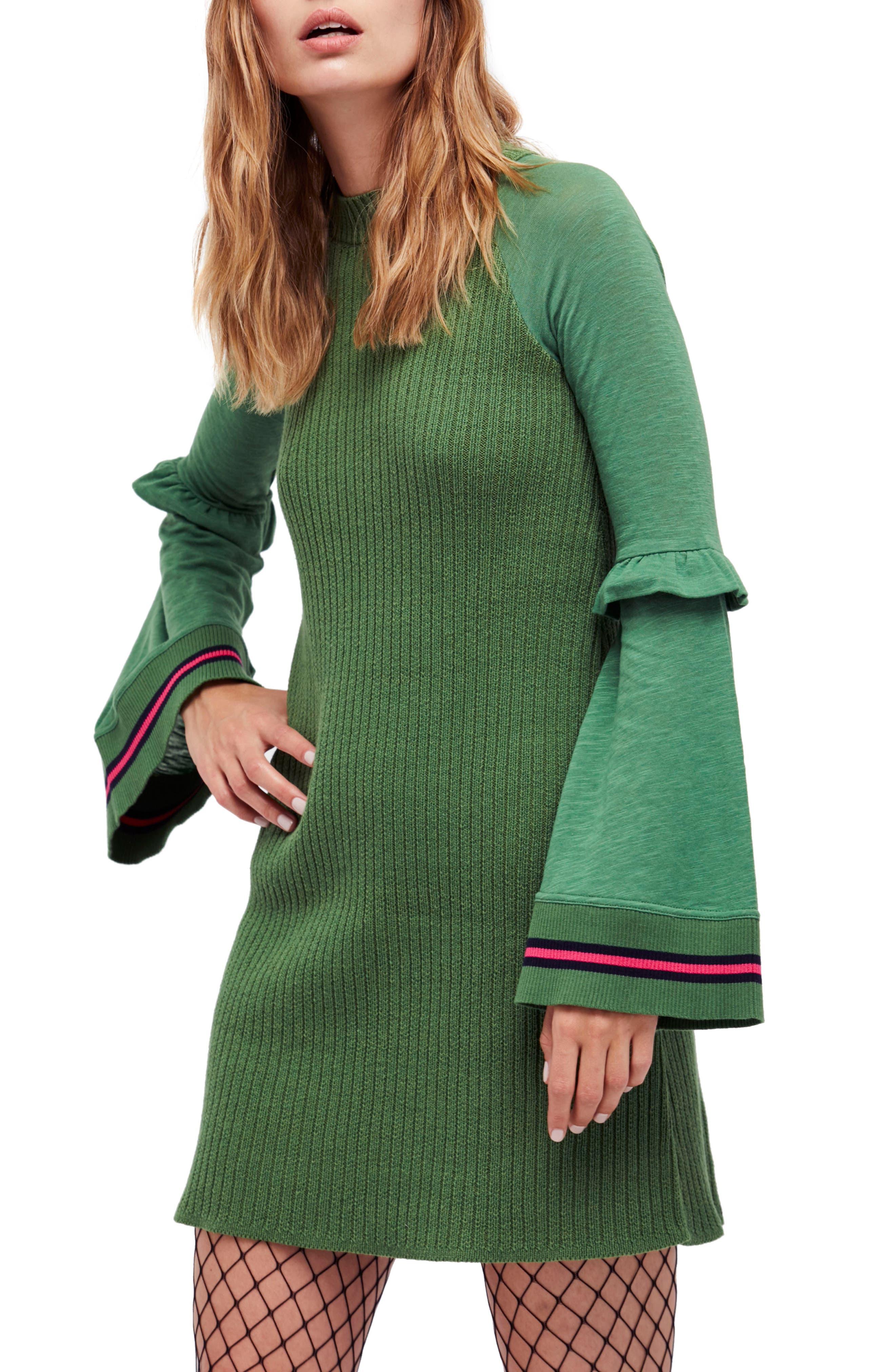 Free People Zou Bisou Knit Minidress