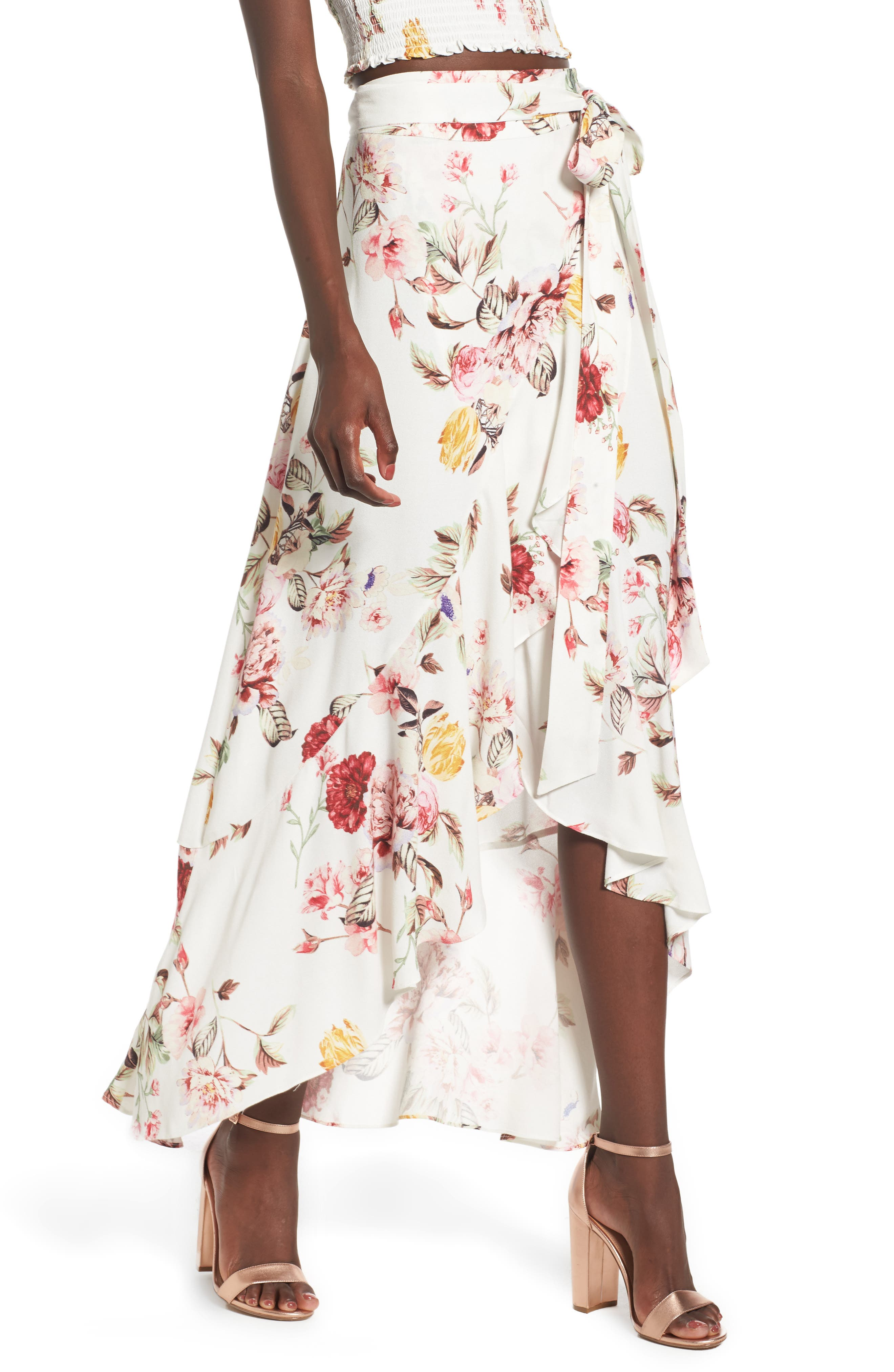 Alternate Image 1 Selected - AFRM Amelia Ruffle Wrap Skirt
