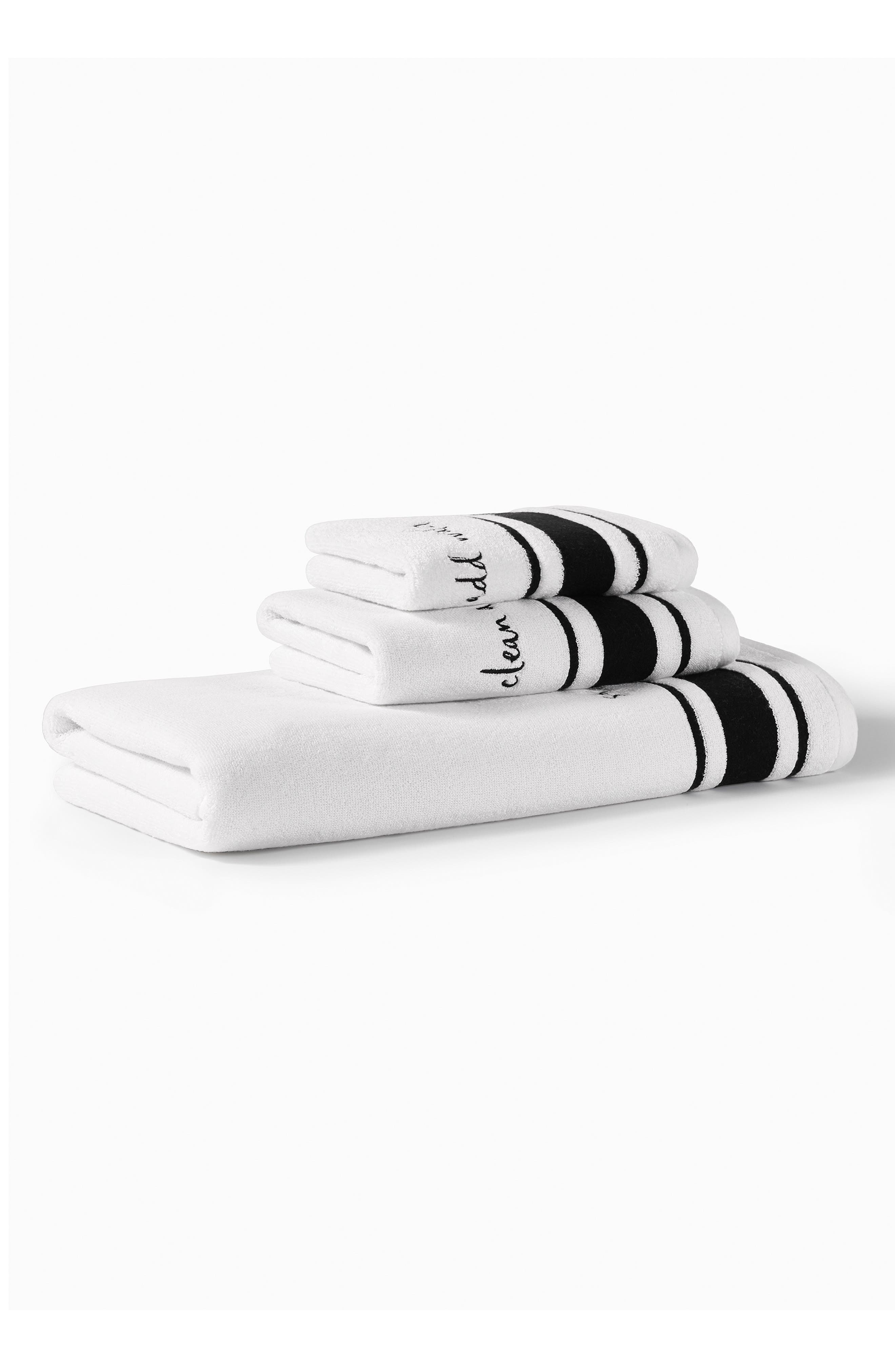 daisy place bath towel,                             Alternate thumbnail 4, color,                             White