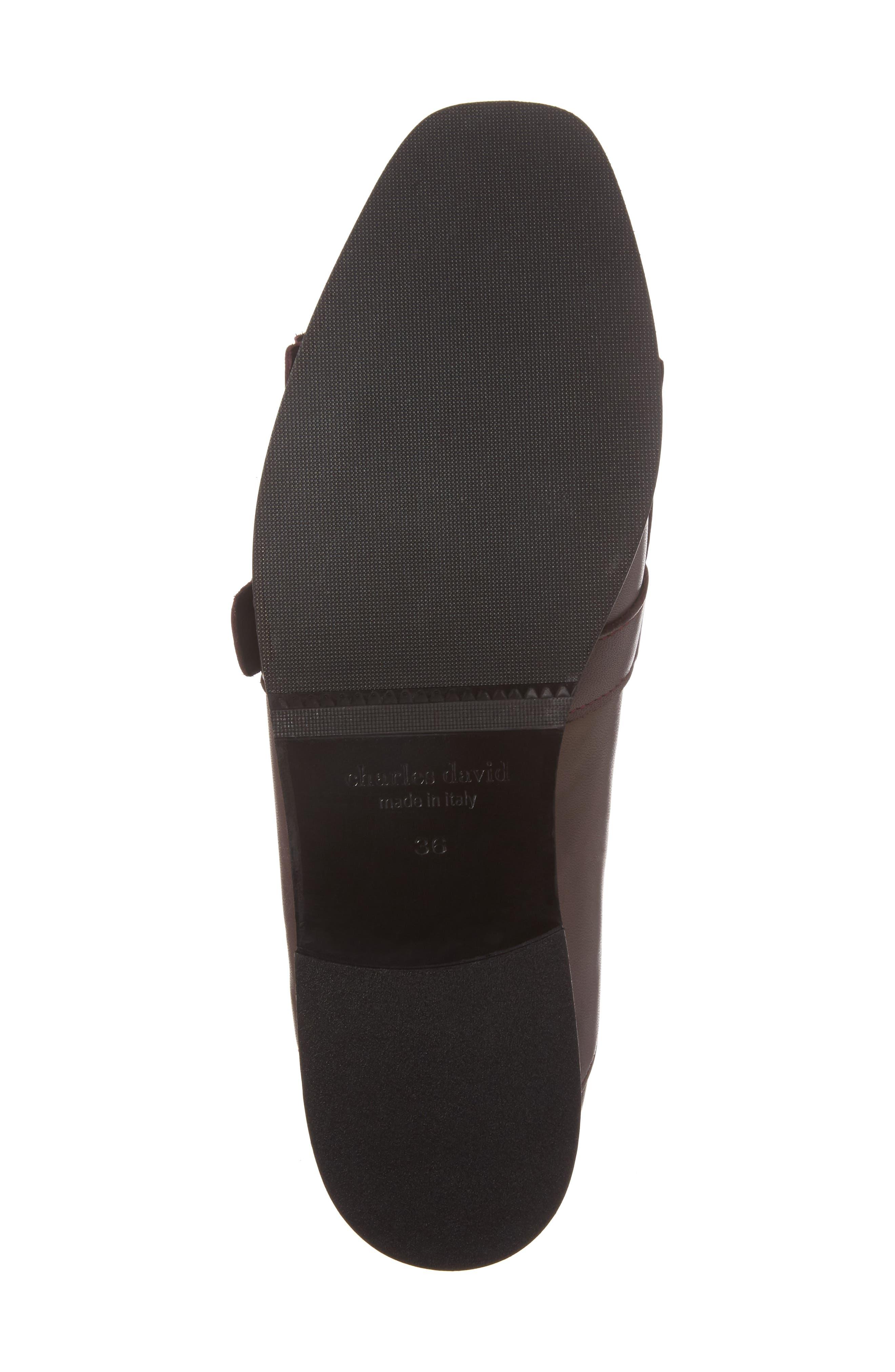 Dame Fringed Loafer Flat,                             Alternate thumbnail 6, color,                             Burgundy Leather