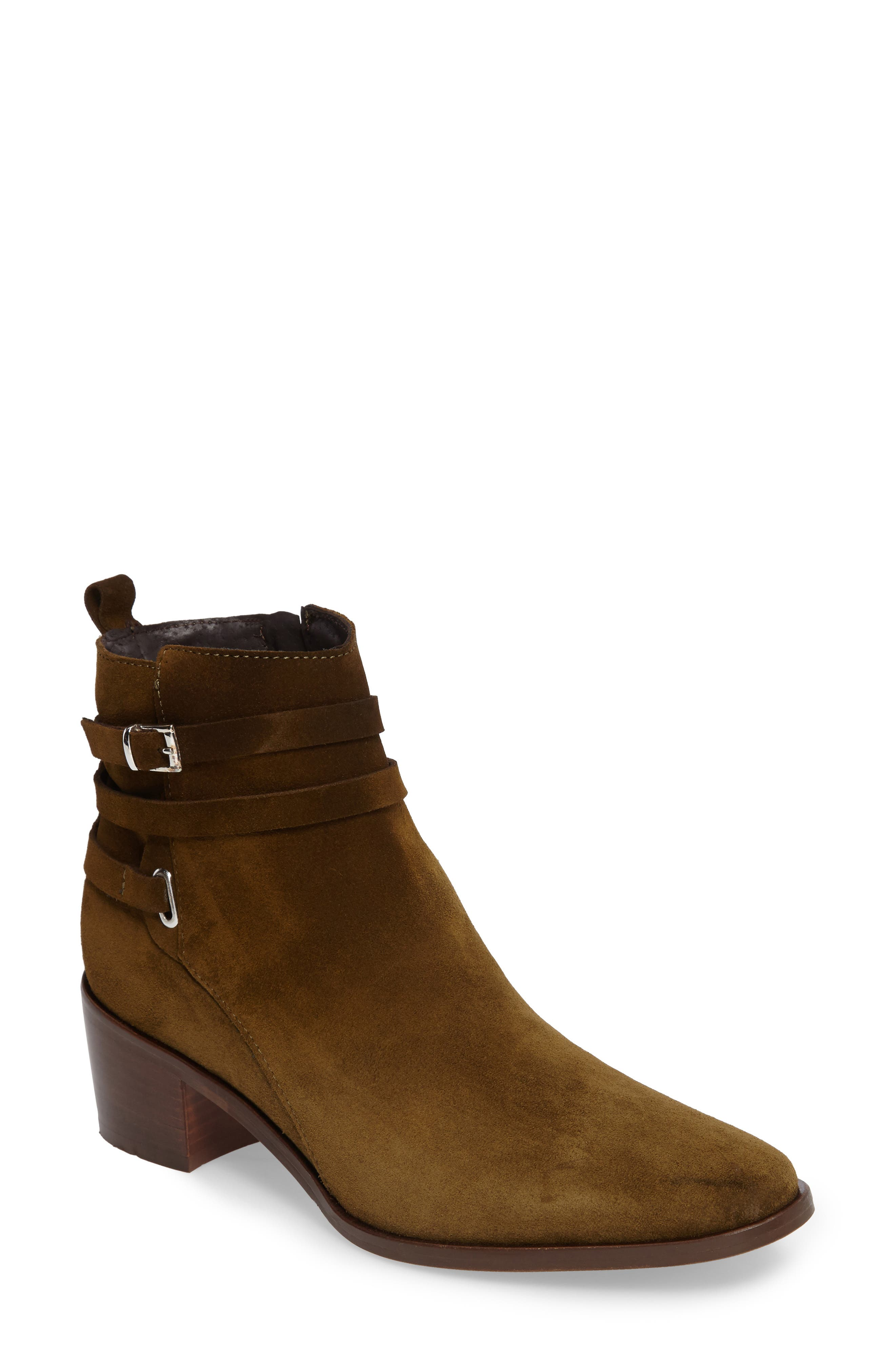 Hunter Bootie,                             Main thumbnail 1, color,                             Khaki Suede
