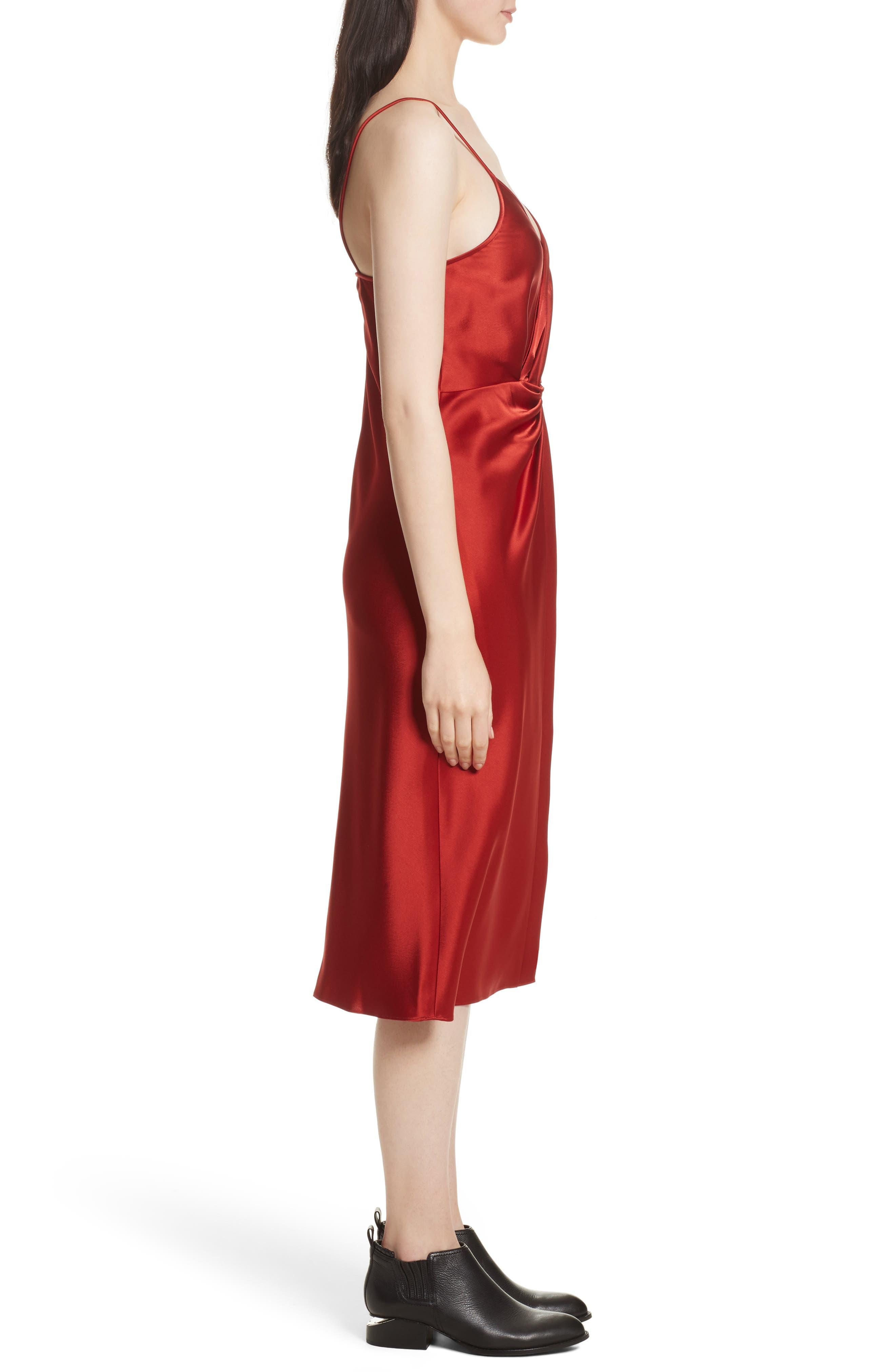 Alternate Image 3  - T by Alexander Wang Draped Satin Dress