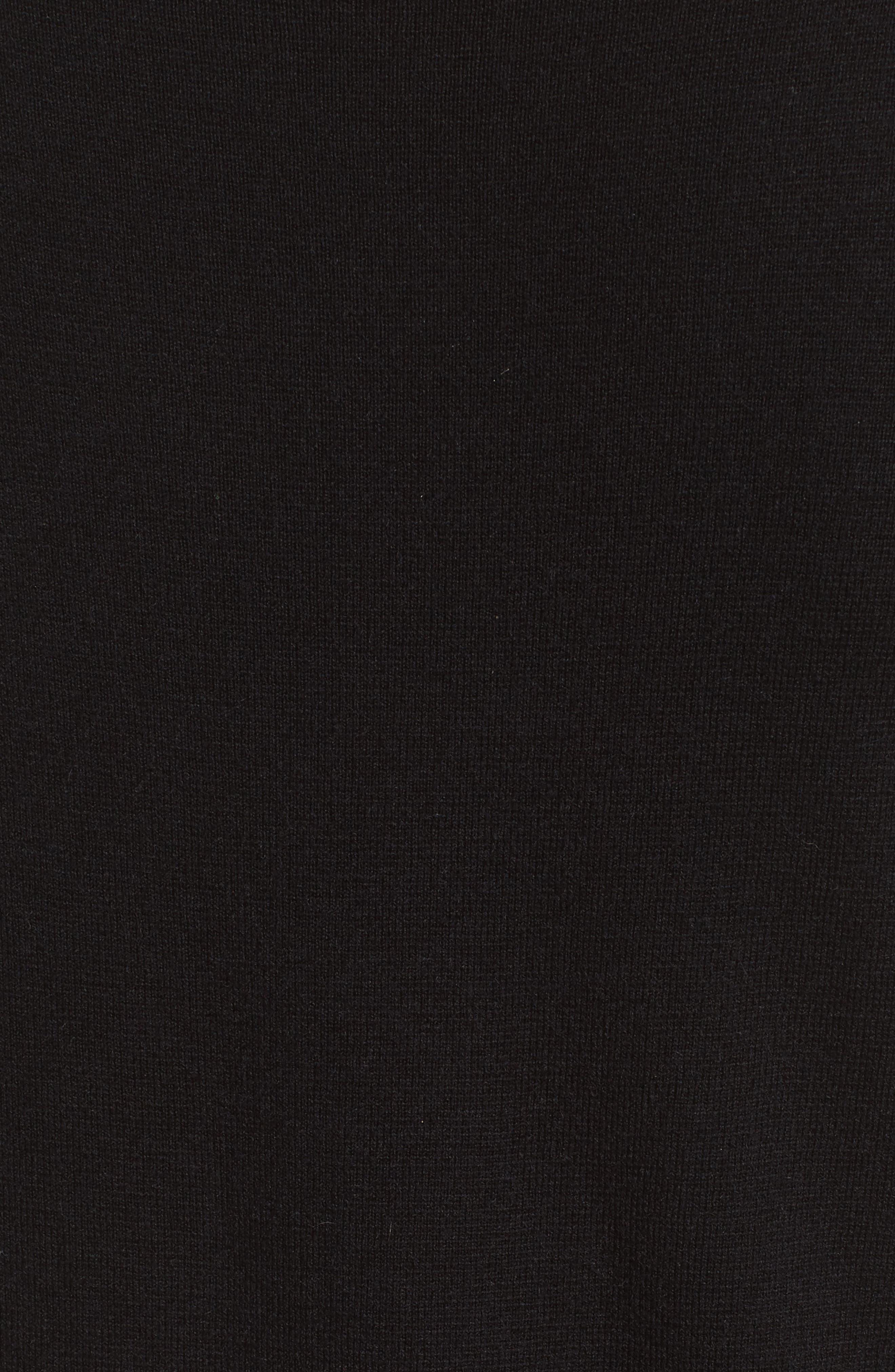 Milano Knit Midi Dress,                             Alternate thumbnail 5, color,                             Black
