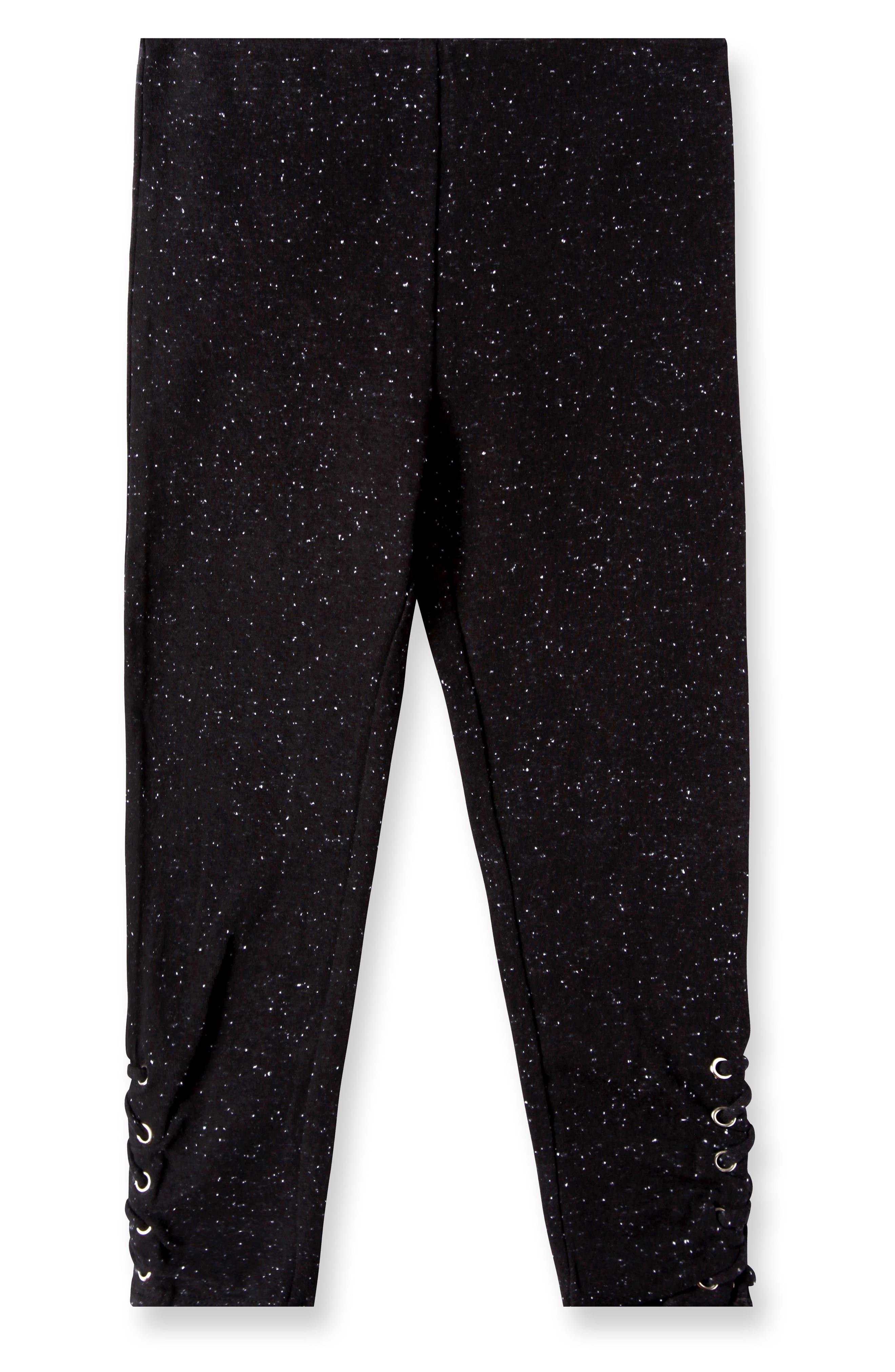 Aria Lace-Up Leggings,                             Main thumbnail 1, color,                             Black