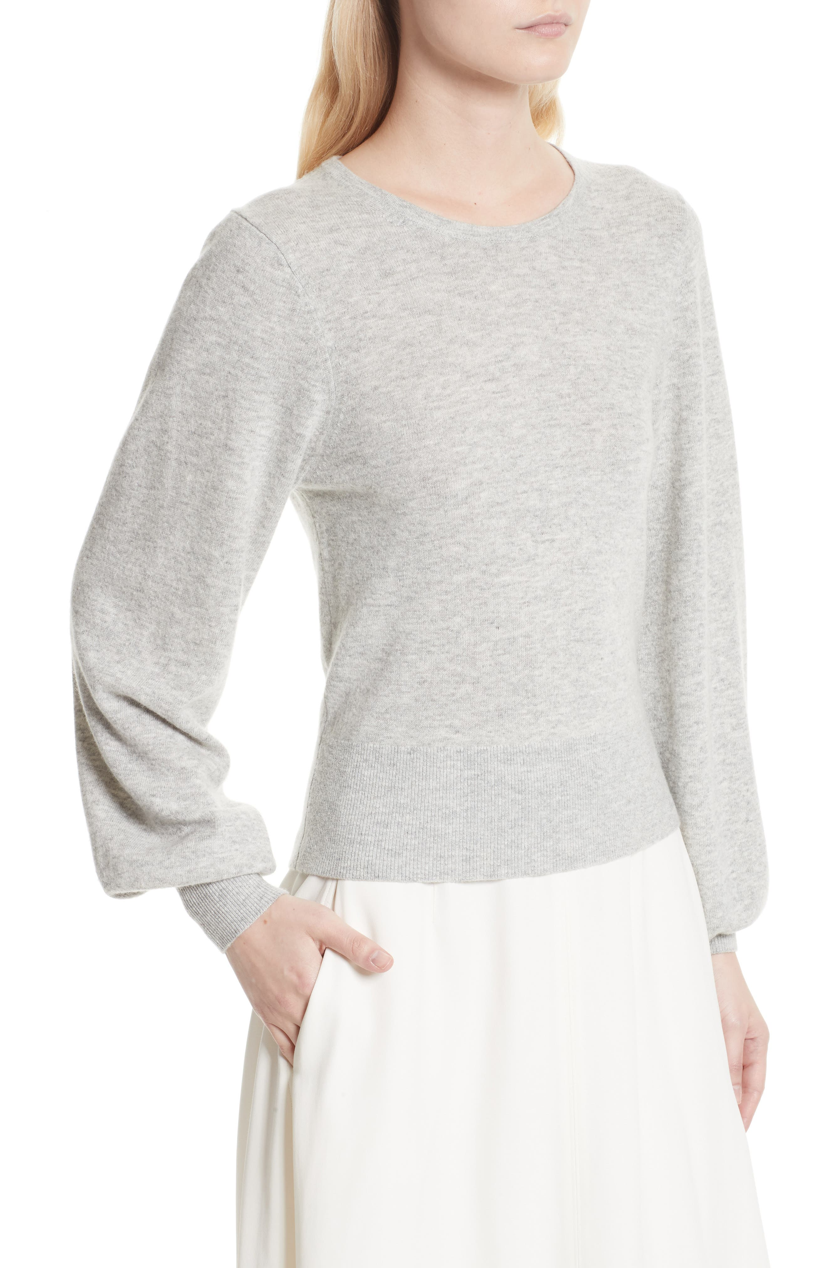 Bretta Sweater,                             Alternate thumbnail 5, color,                             Heather Grey
