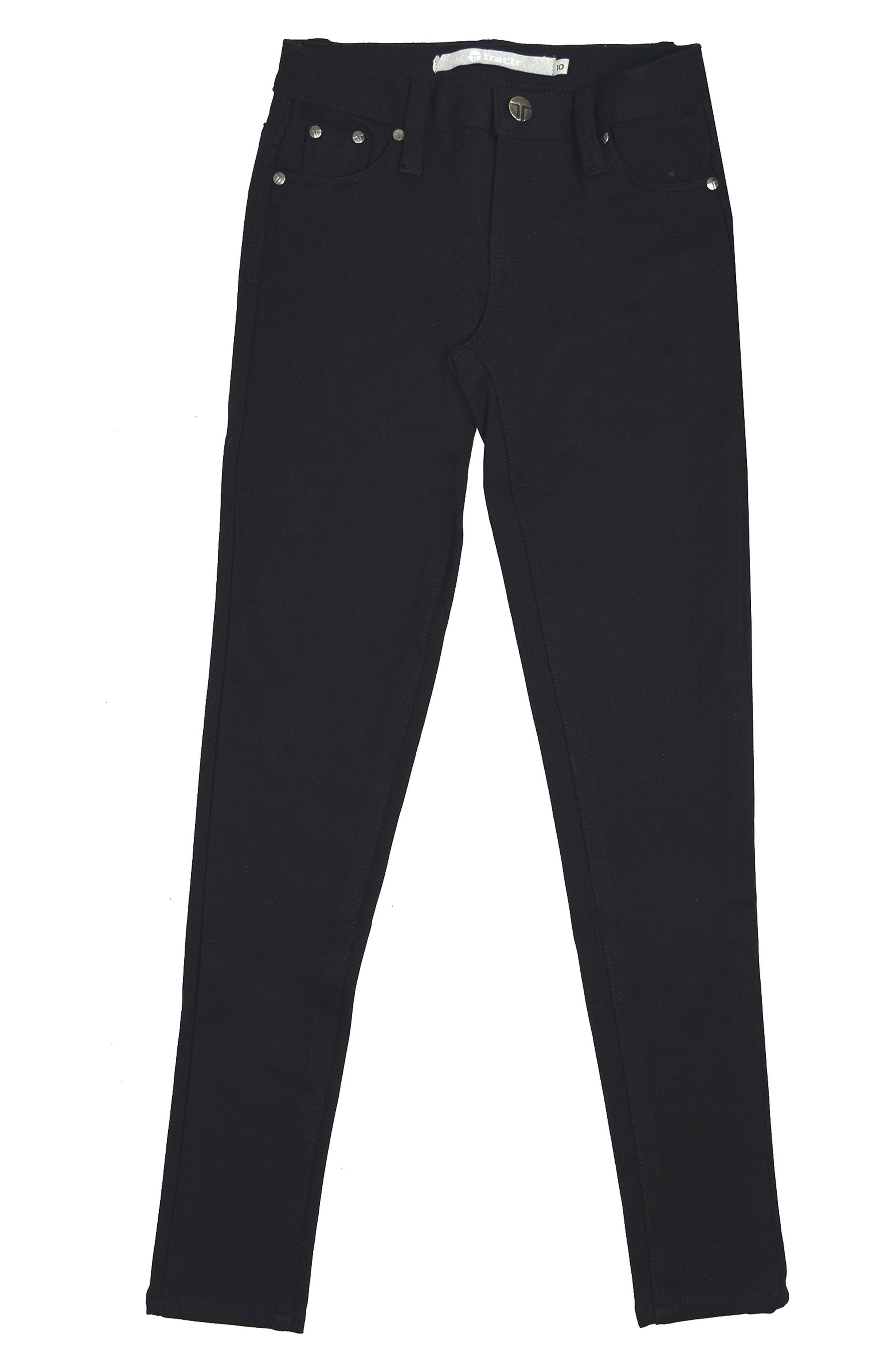 Ponte Skinny Jeans,                         Main,                         color, Black