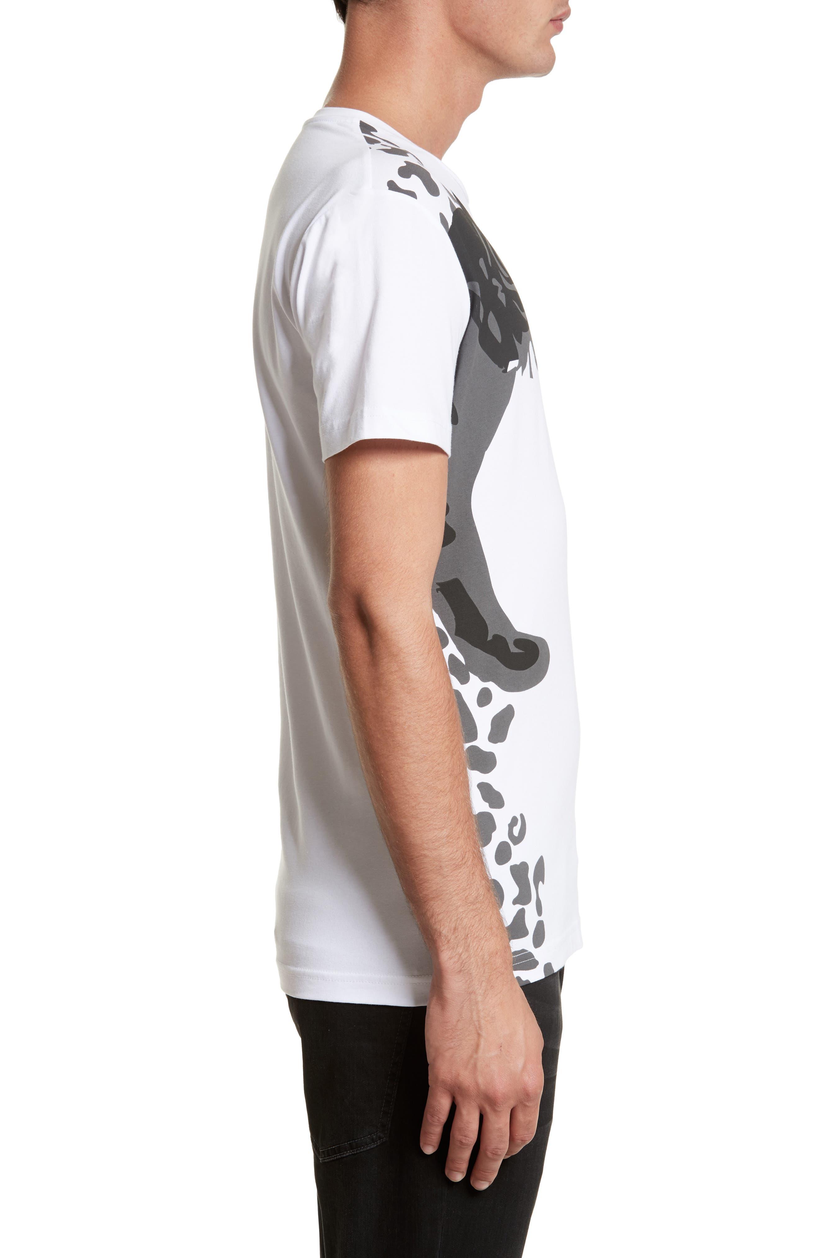 Print T-Shirt,                             Alternate thumbnail 3, color,                             White/ Grey