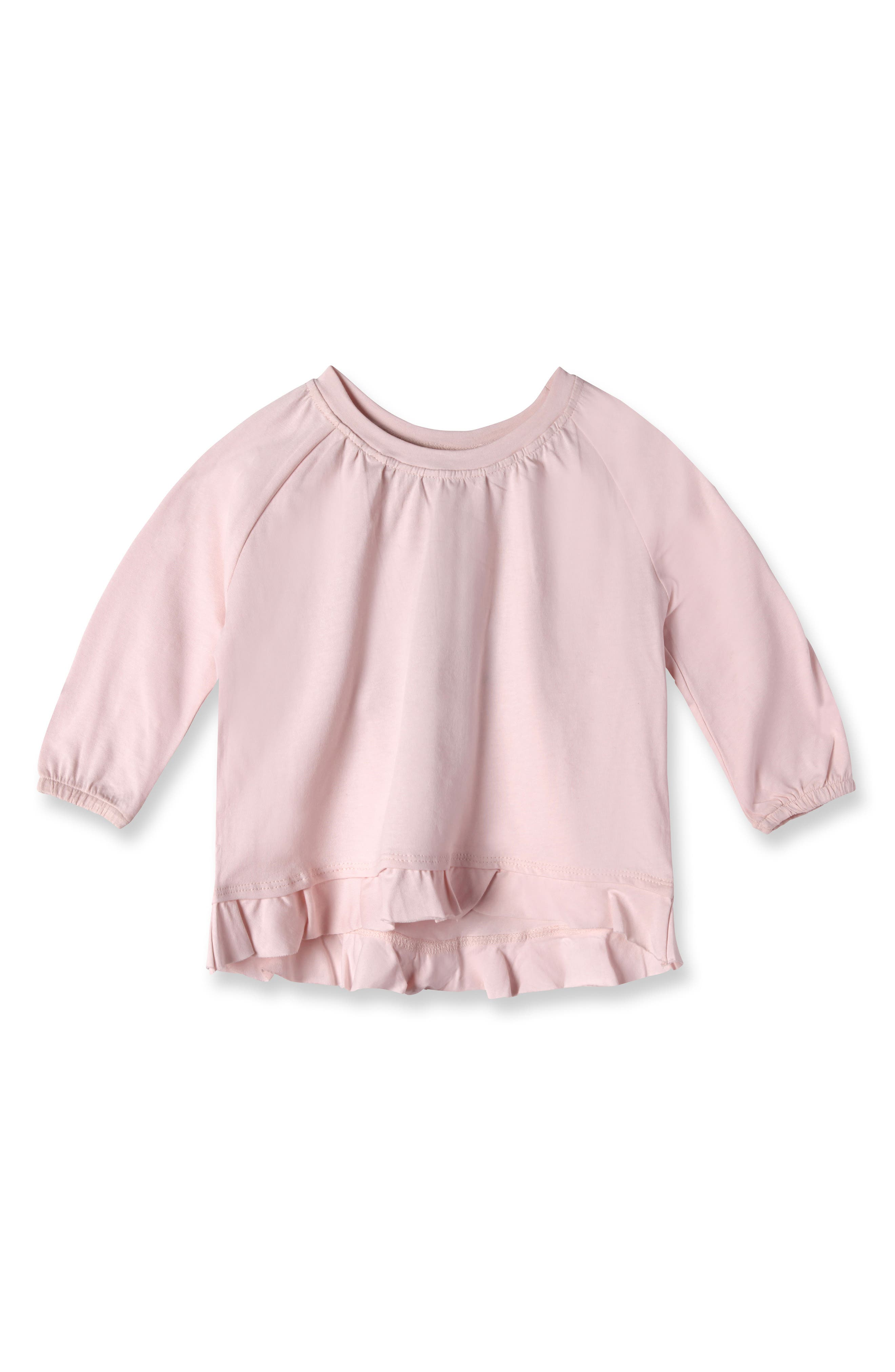Ella Organic Cotton Tee,                             Main thumbnail 1, color,                             Blush